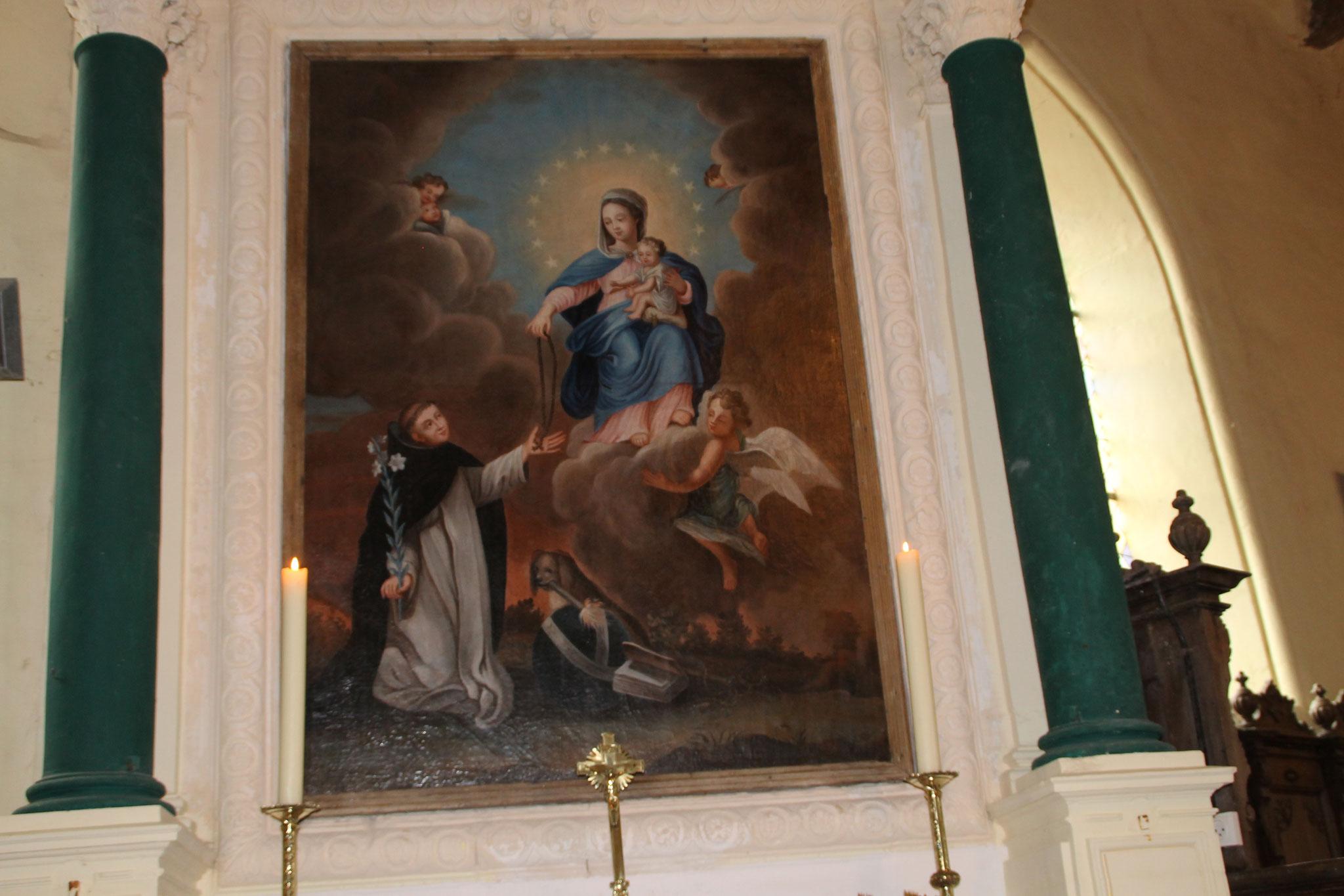 """Tableau """"le rosaire"""" après restauration"""