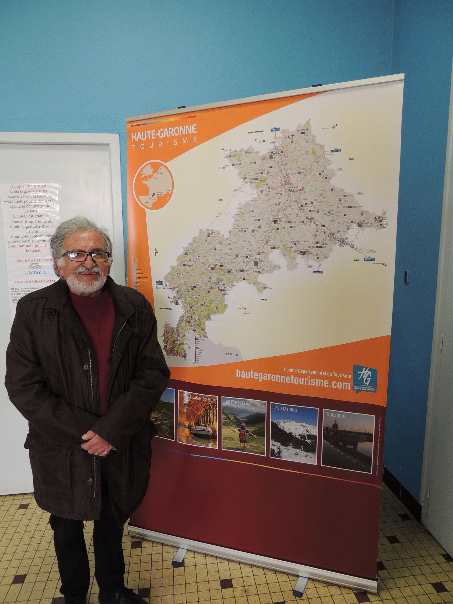 Yves Lignon se plaît aux salons de Ciadoux 'sud de la Hte-Garonne)