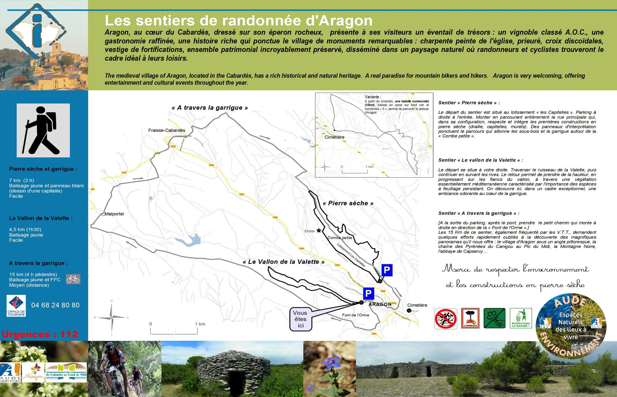 description randonnée d'Aragon
