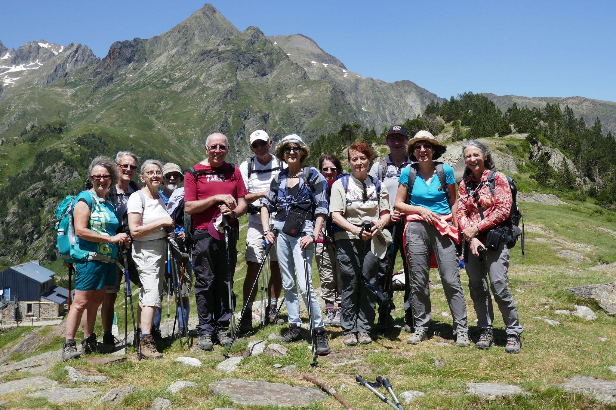 le groupe au col d'Espingo