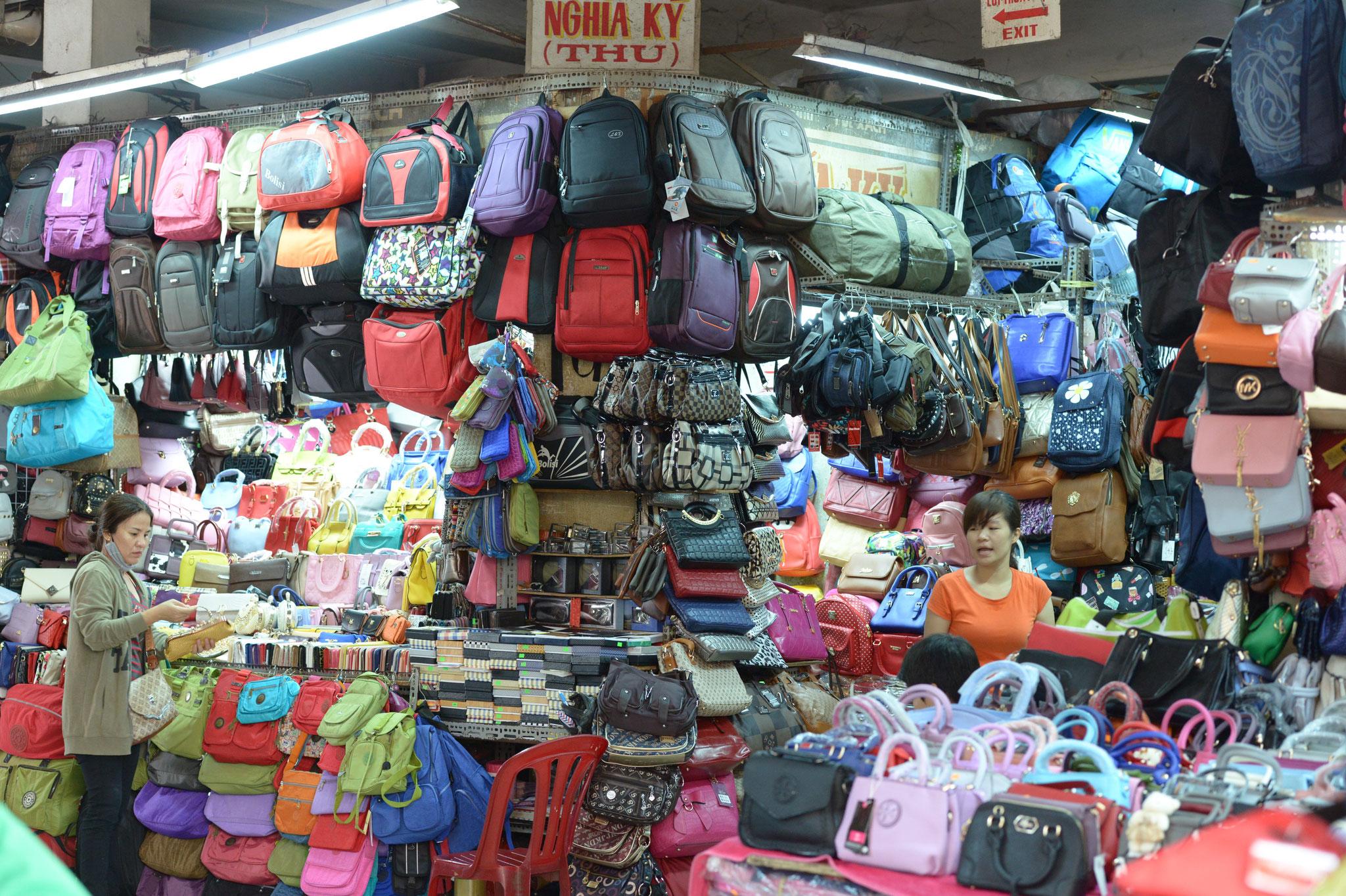 Die grosse Markthalle in Vinh Long, Nicht nur für Wiederverkäufer
