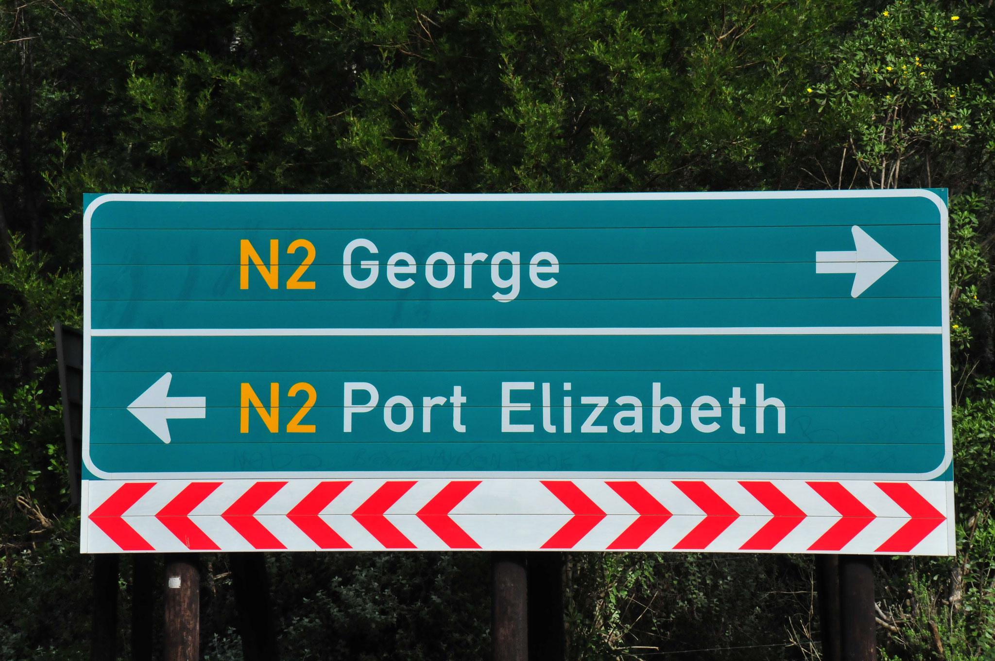 """In Richtung """"George"""" bis zum Natures Valley"""