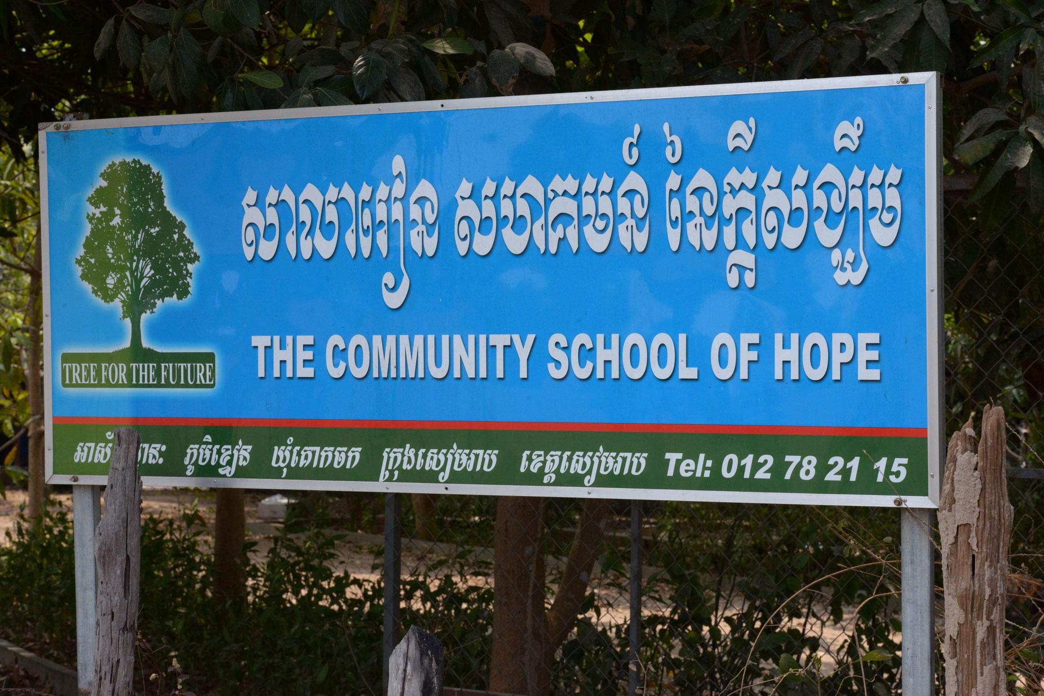 "Am Nachmittag ""ungeplanter"" Besuch der ""Community School Of Hope"" unseres Guide"