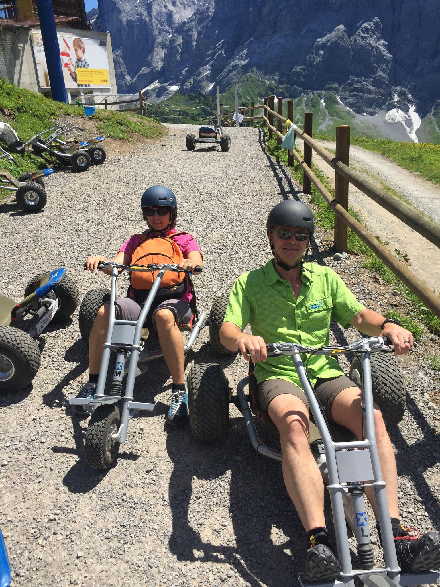 Mit dem Mountain Cart bis Bort