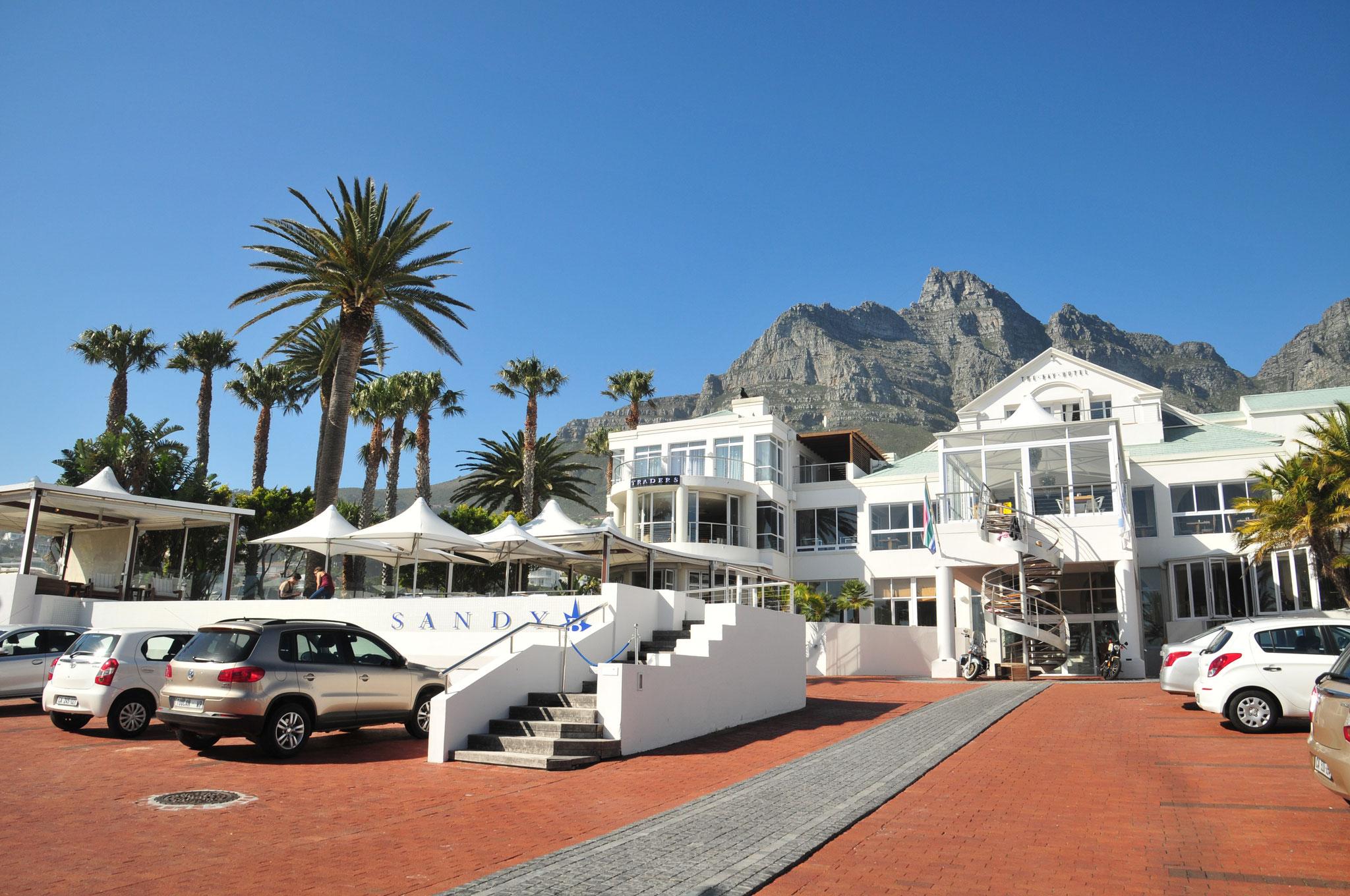 """Nach kurzer Irrfahrt im """"Bay Hotel"""" in Camps Bay angekommen und kostenlos ein Upgrade erhalten"""