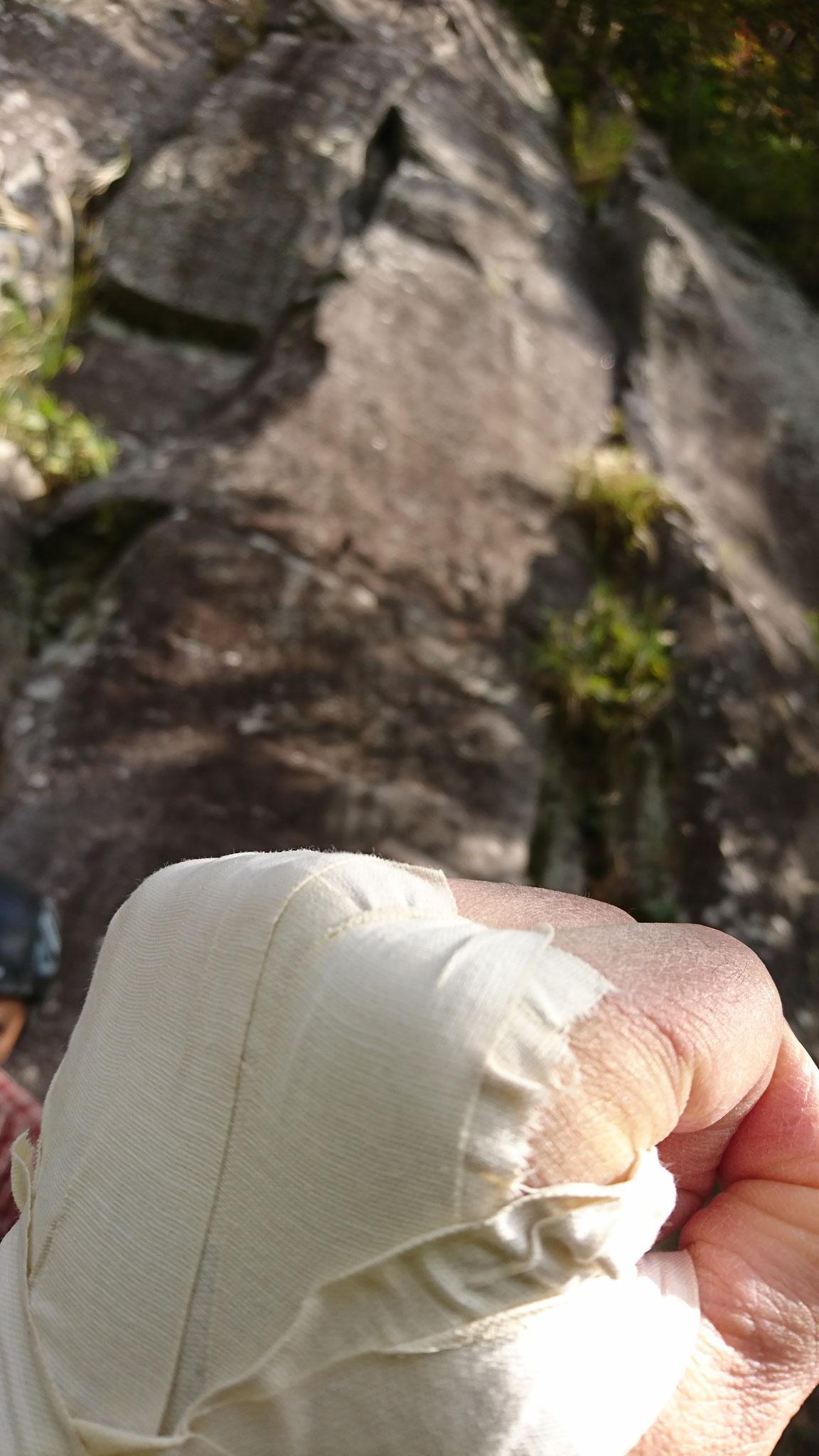 私の手、なんとヒヨワ・・・・