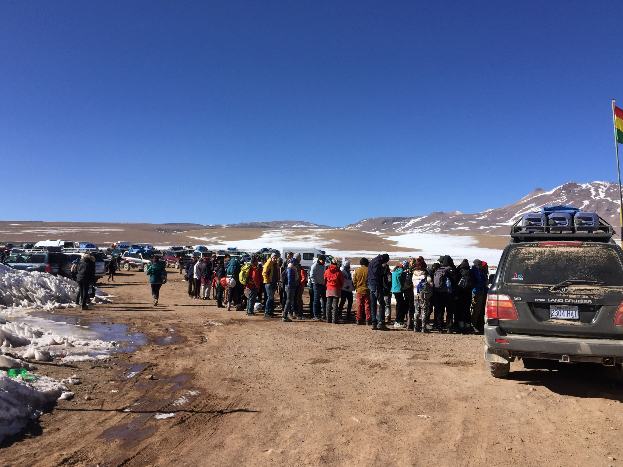 Bolivianischer Zoll an der Lagunenrute
