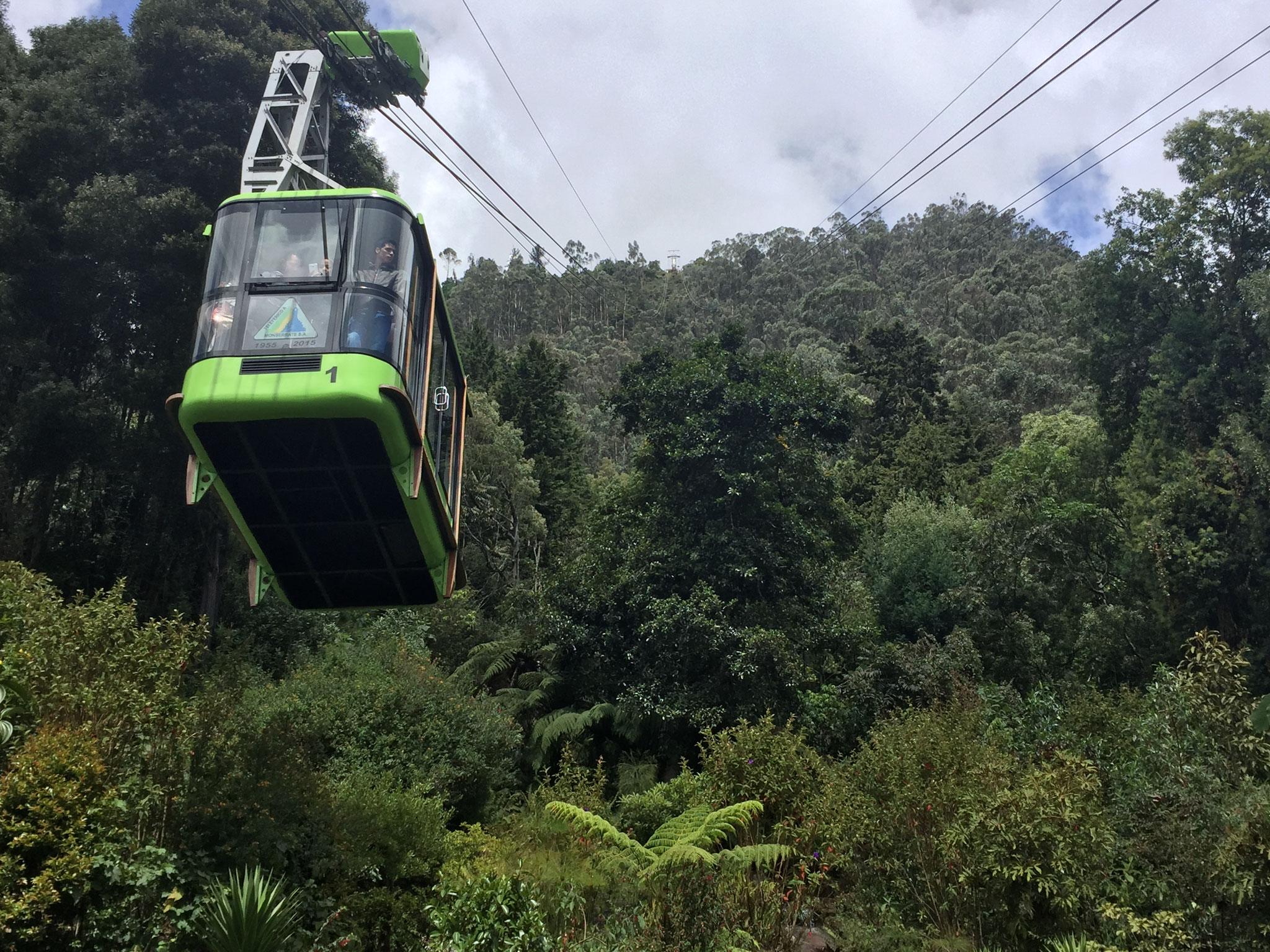 Gondel auf den Mont Serrat in Bogota