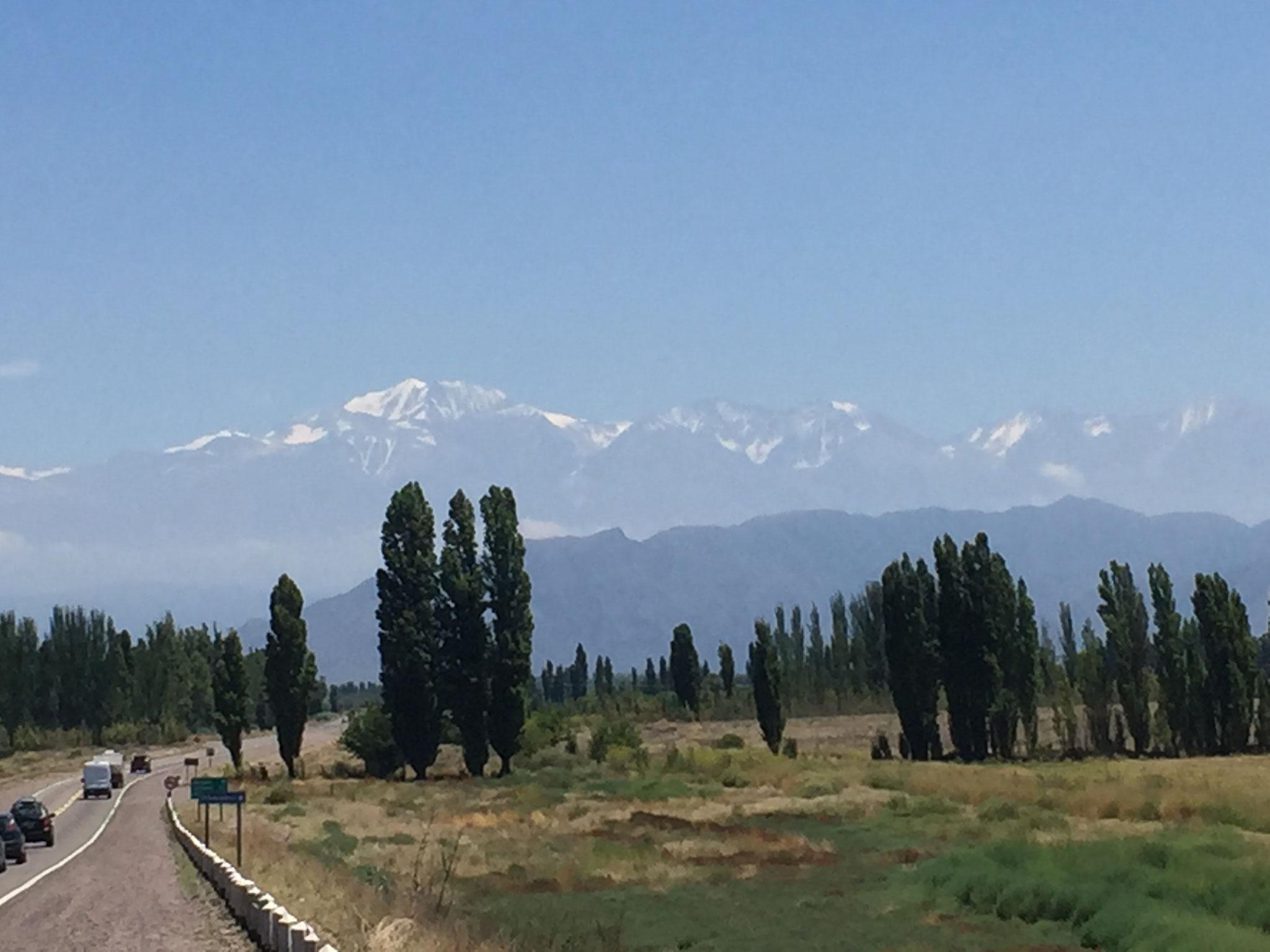 Endlich sehen wir von Mendoza aus den Aconcagua!