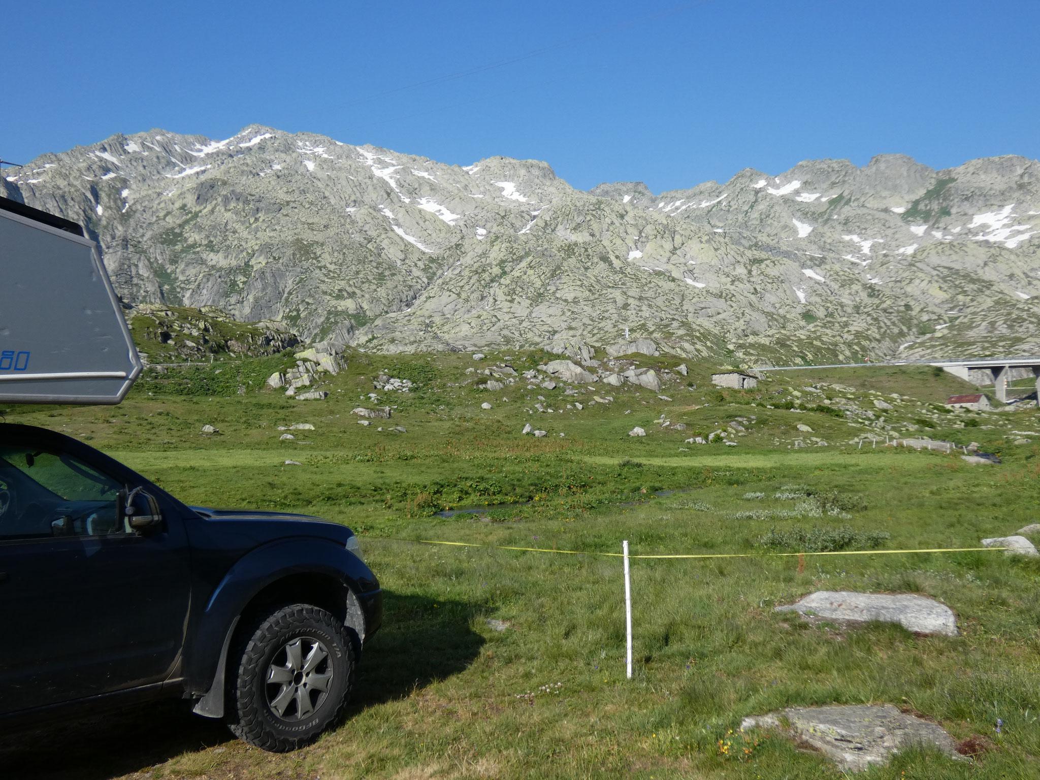 Überrnachtungsplatz Gotthard