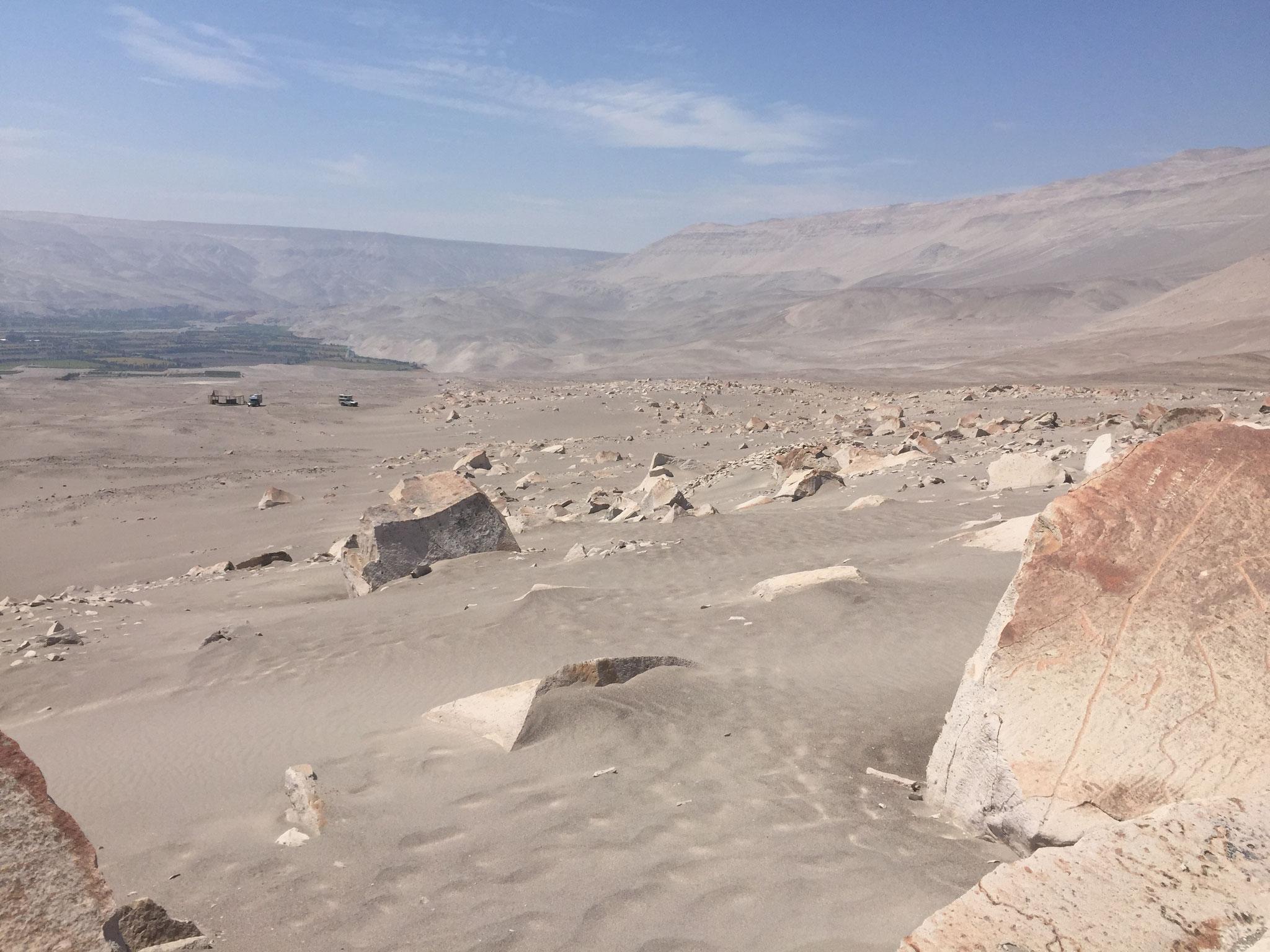 Wüste bei den Petroglyphen Tore Muerto