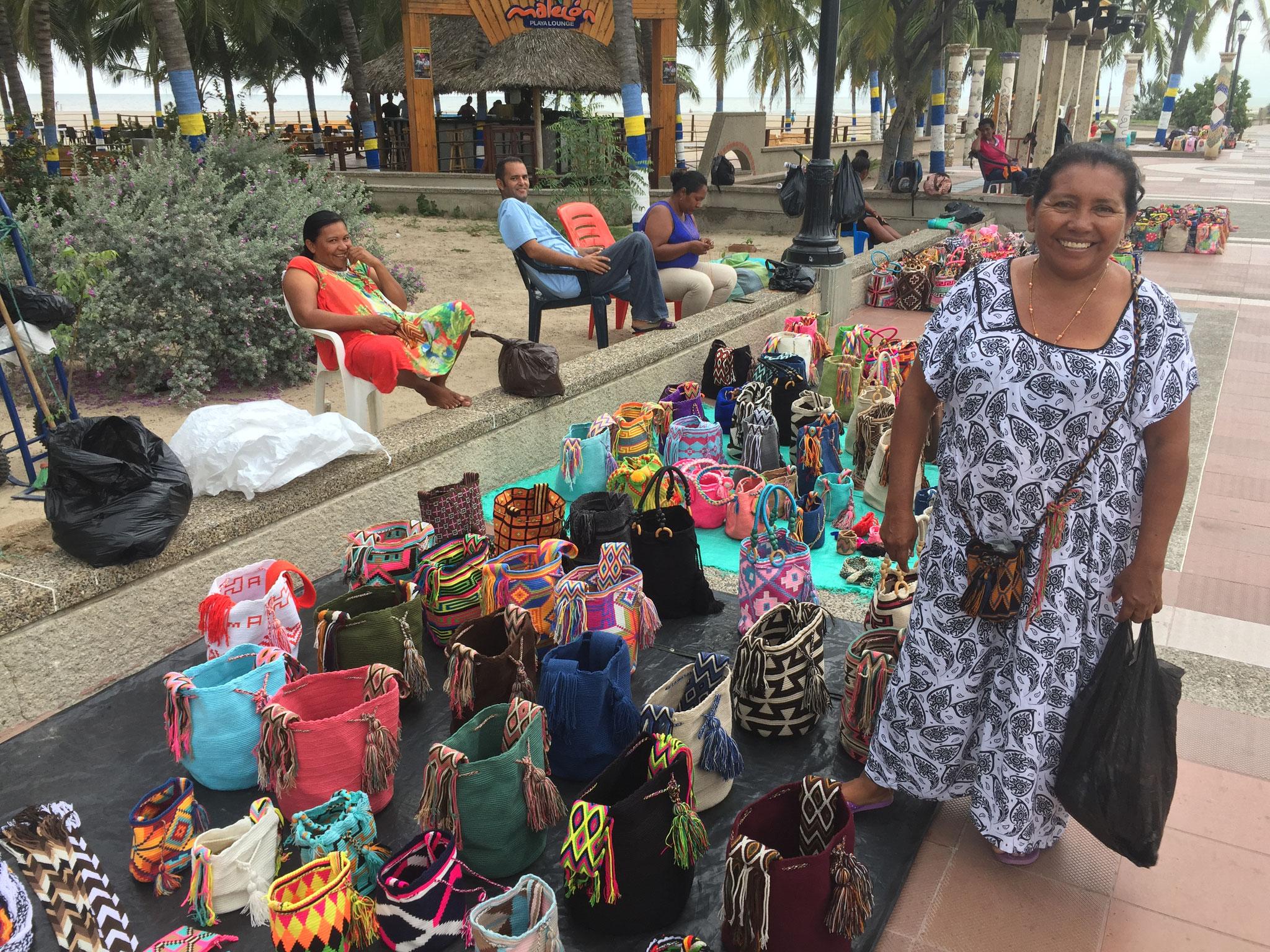 Verkaufsstände an der Beach