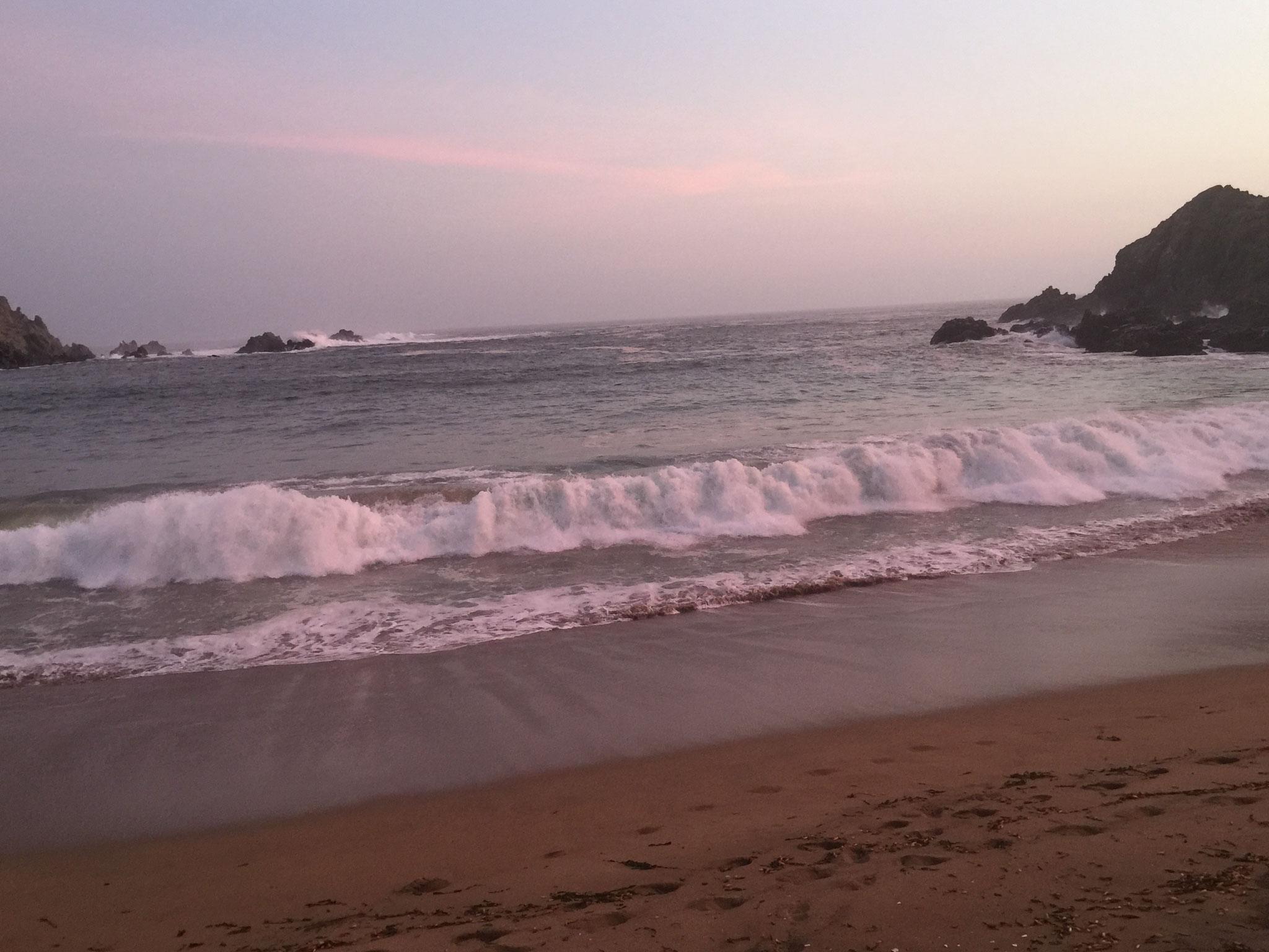 Abendstimmung an einer Bucht