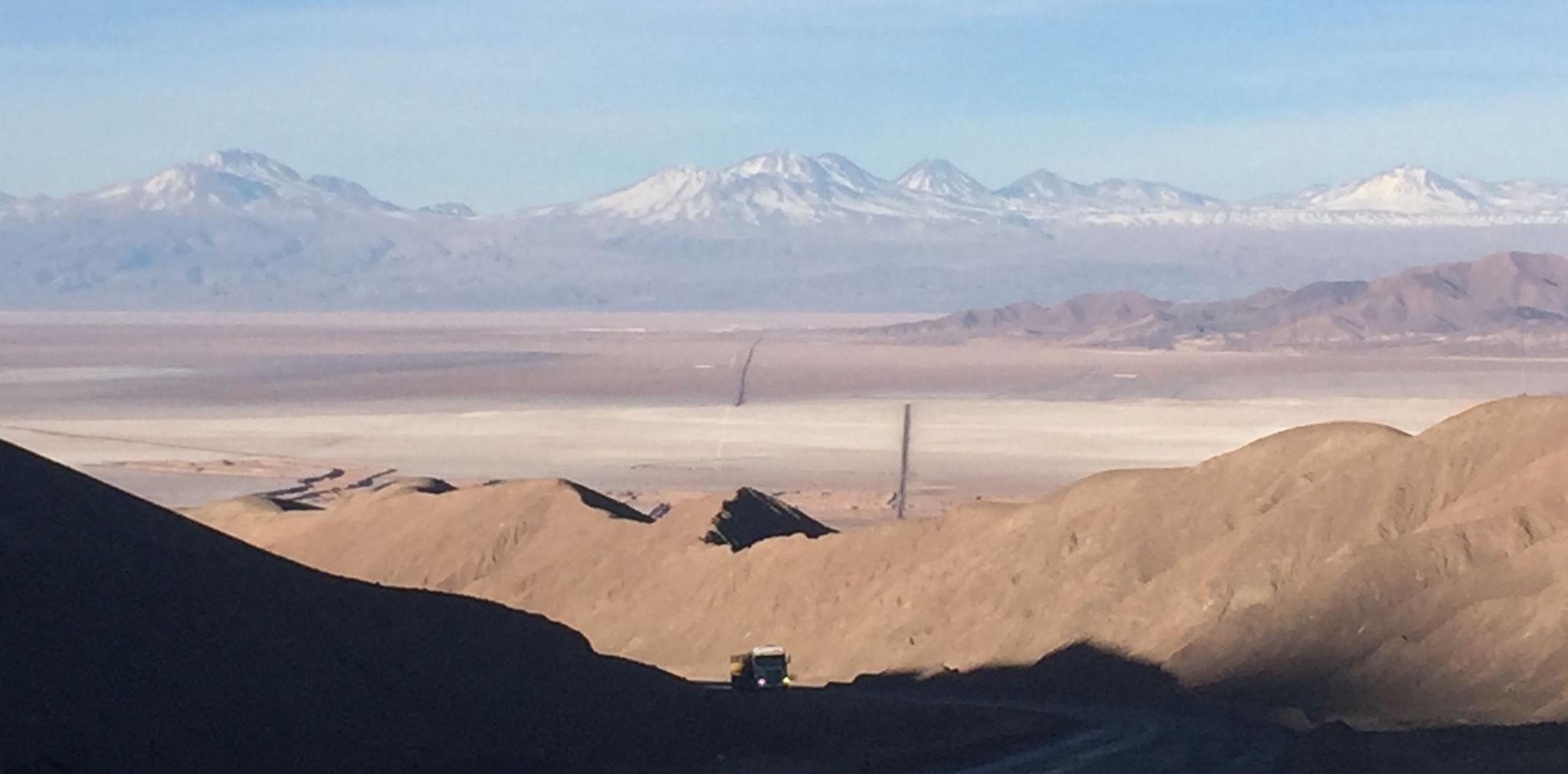 Sicht auf den Salar de Atacama