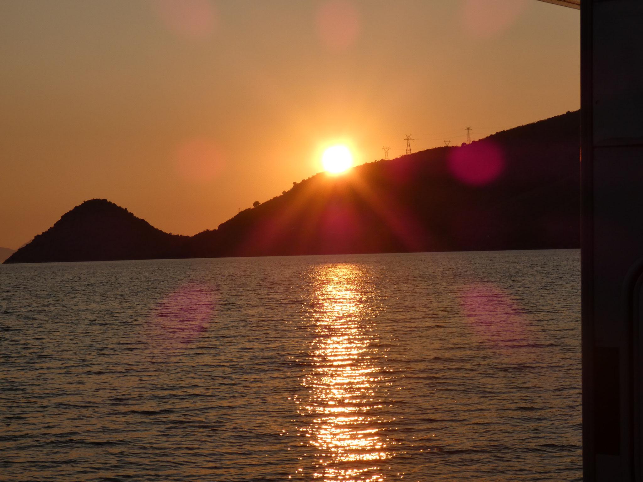 und traumhaftem Sonnenuntergang