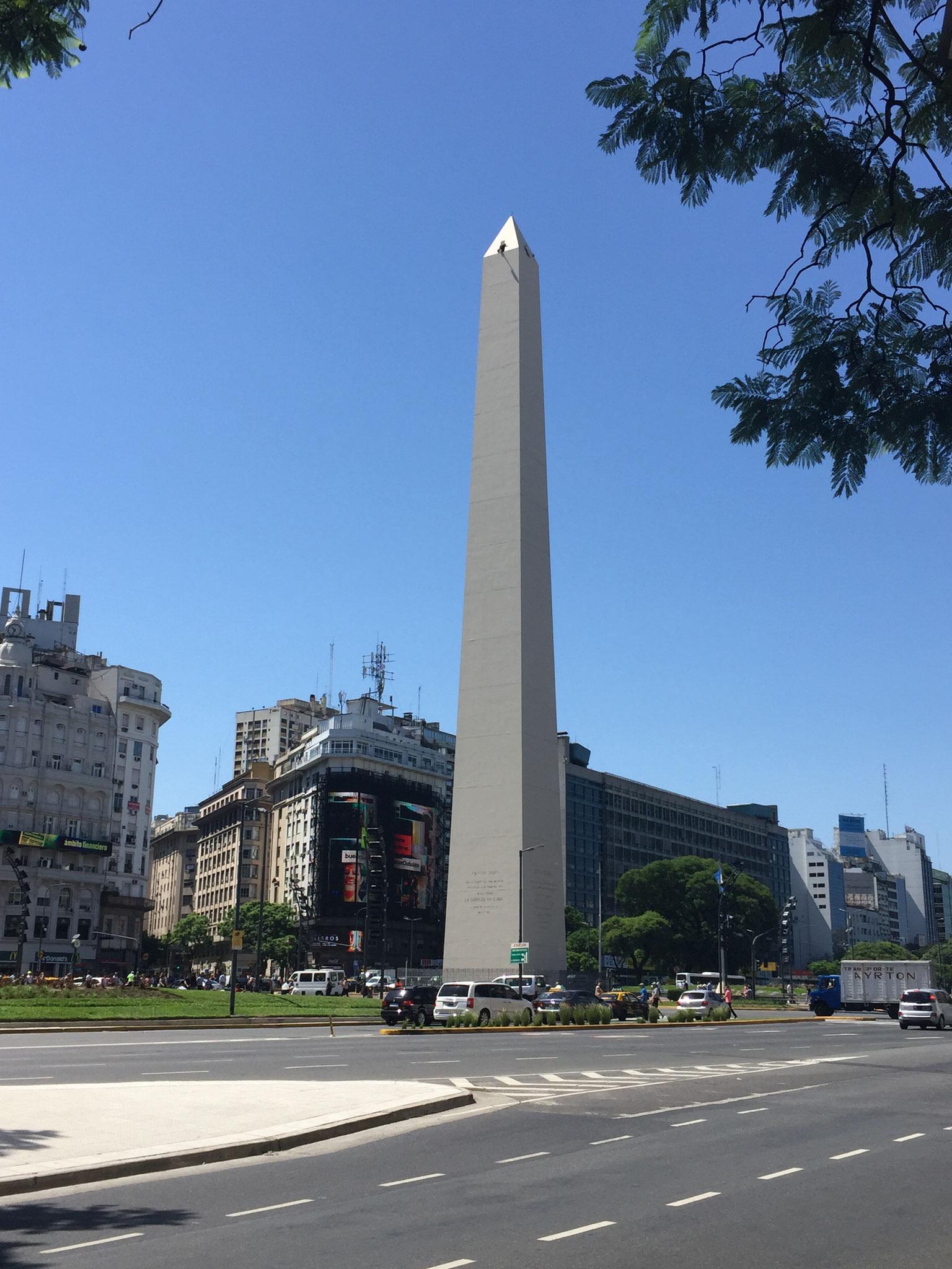 Obelisk an der Julio 14