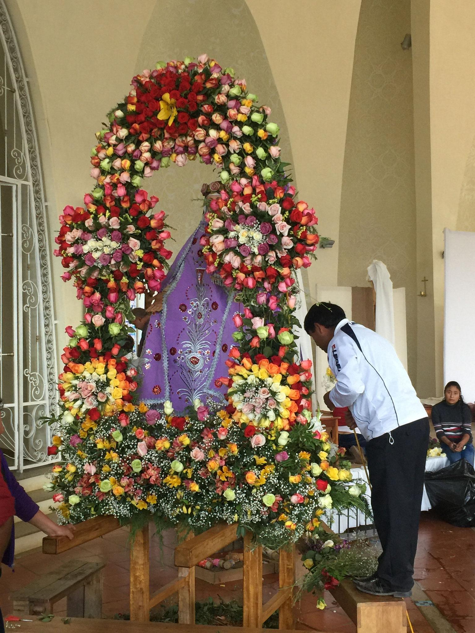Prozession Santa Rosa