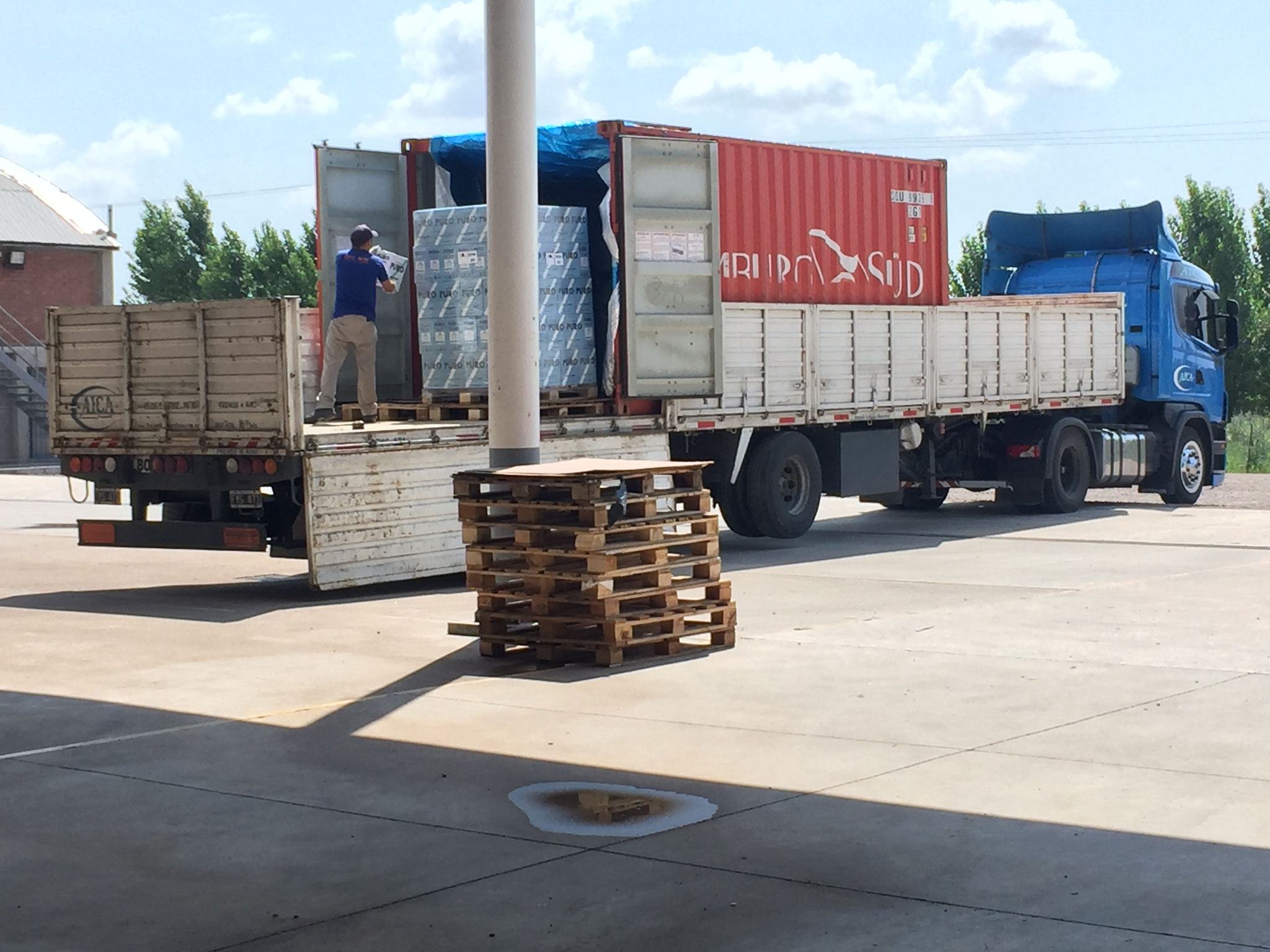 Verladung in Container nach Europa