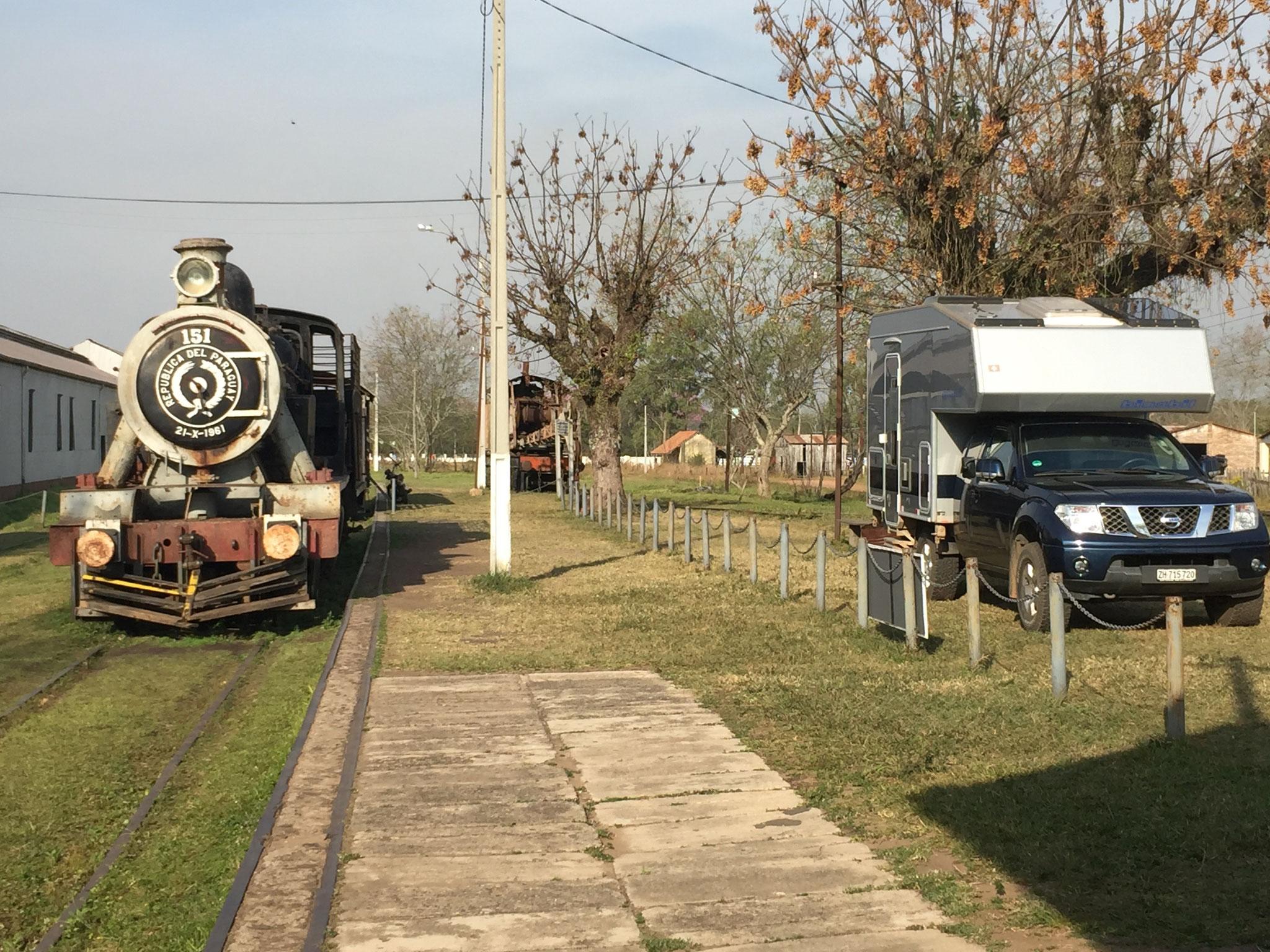 Übernachtungsplatz beim Eisenbahnmuseum