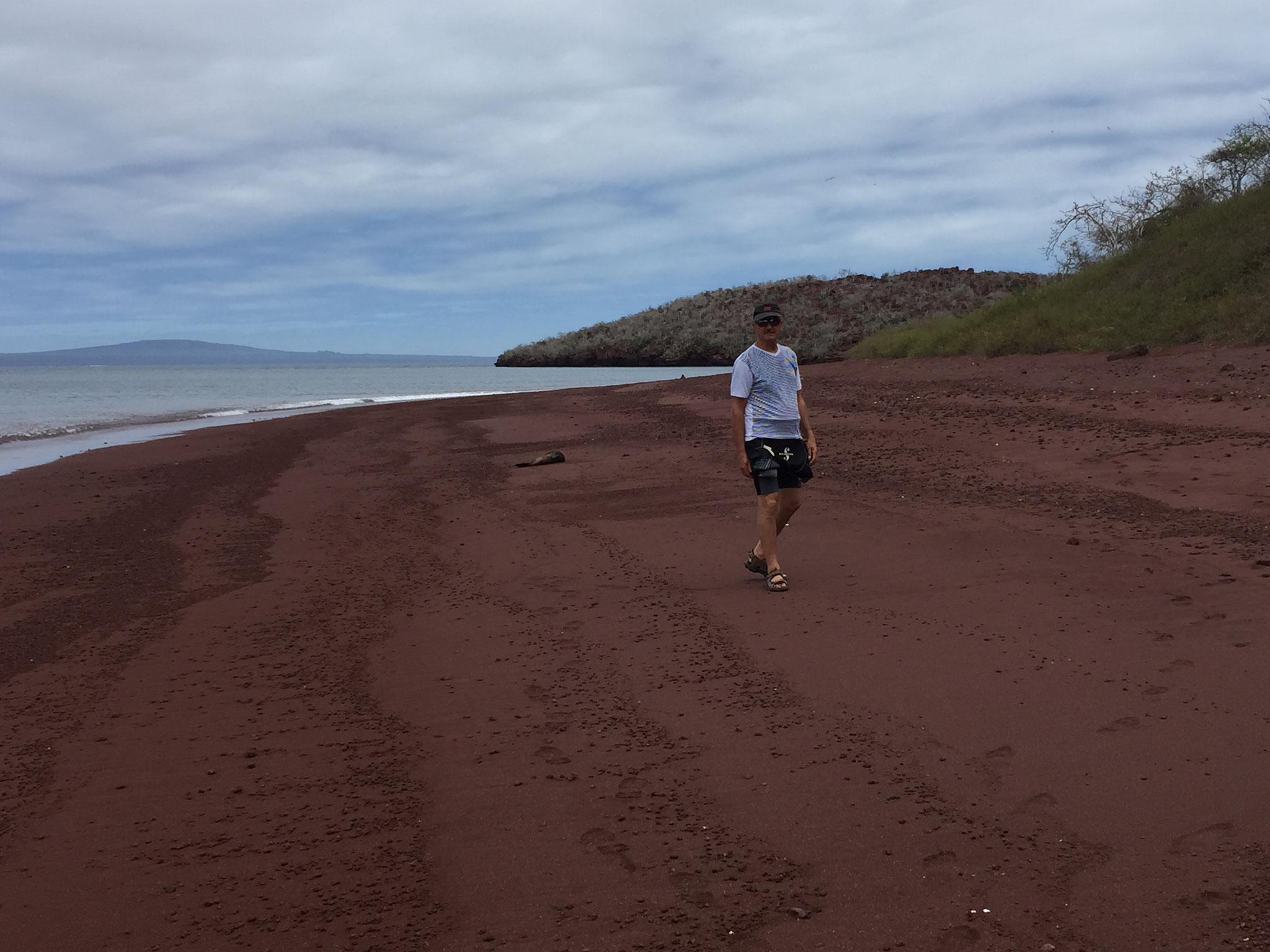Roter Strand auf der Isla Rapid