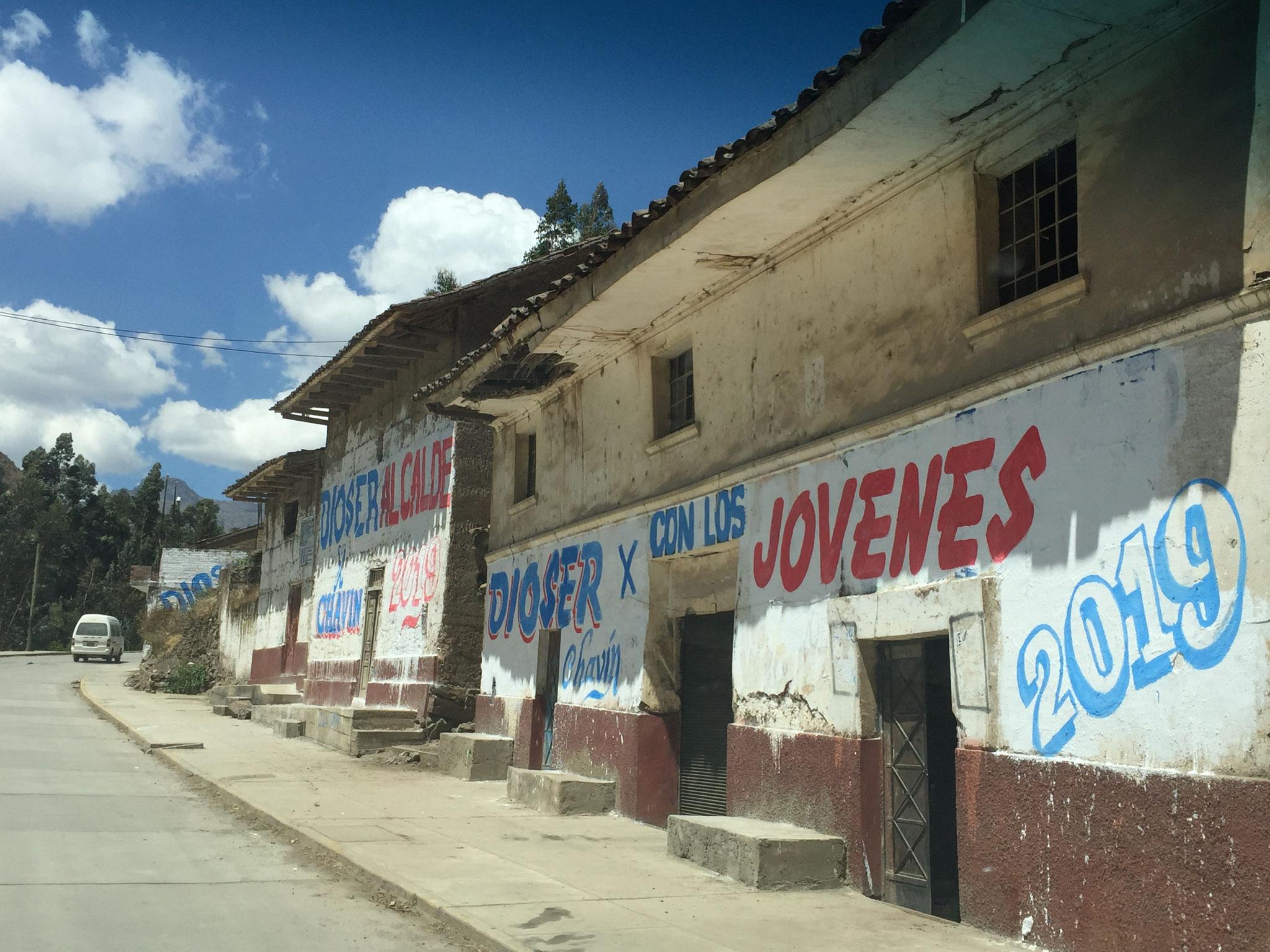 Wahlpropaganda auf peruanisch