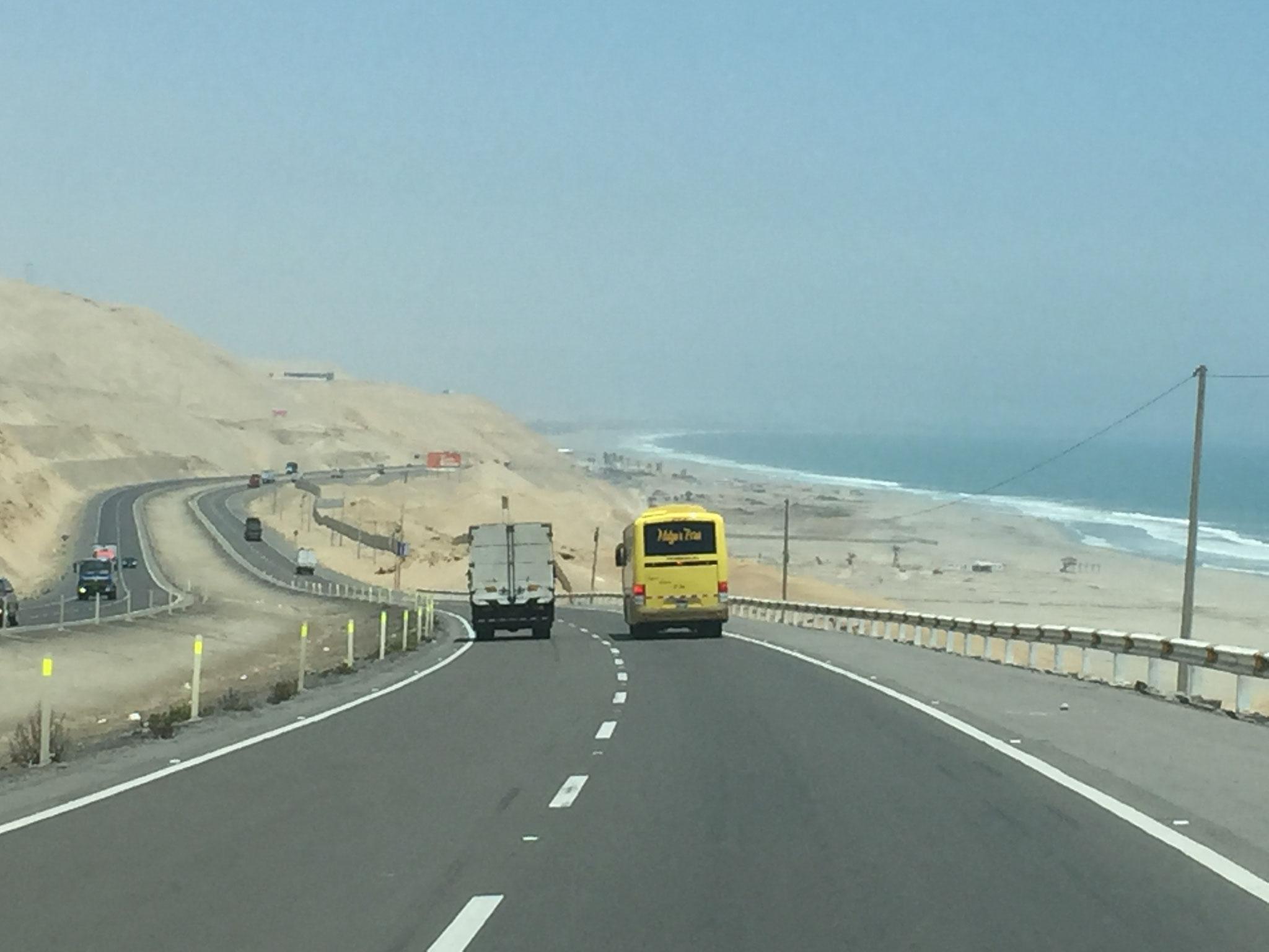 Unterwegs entlang der Küste Perus