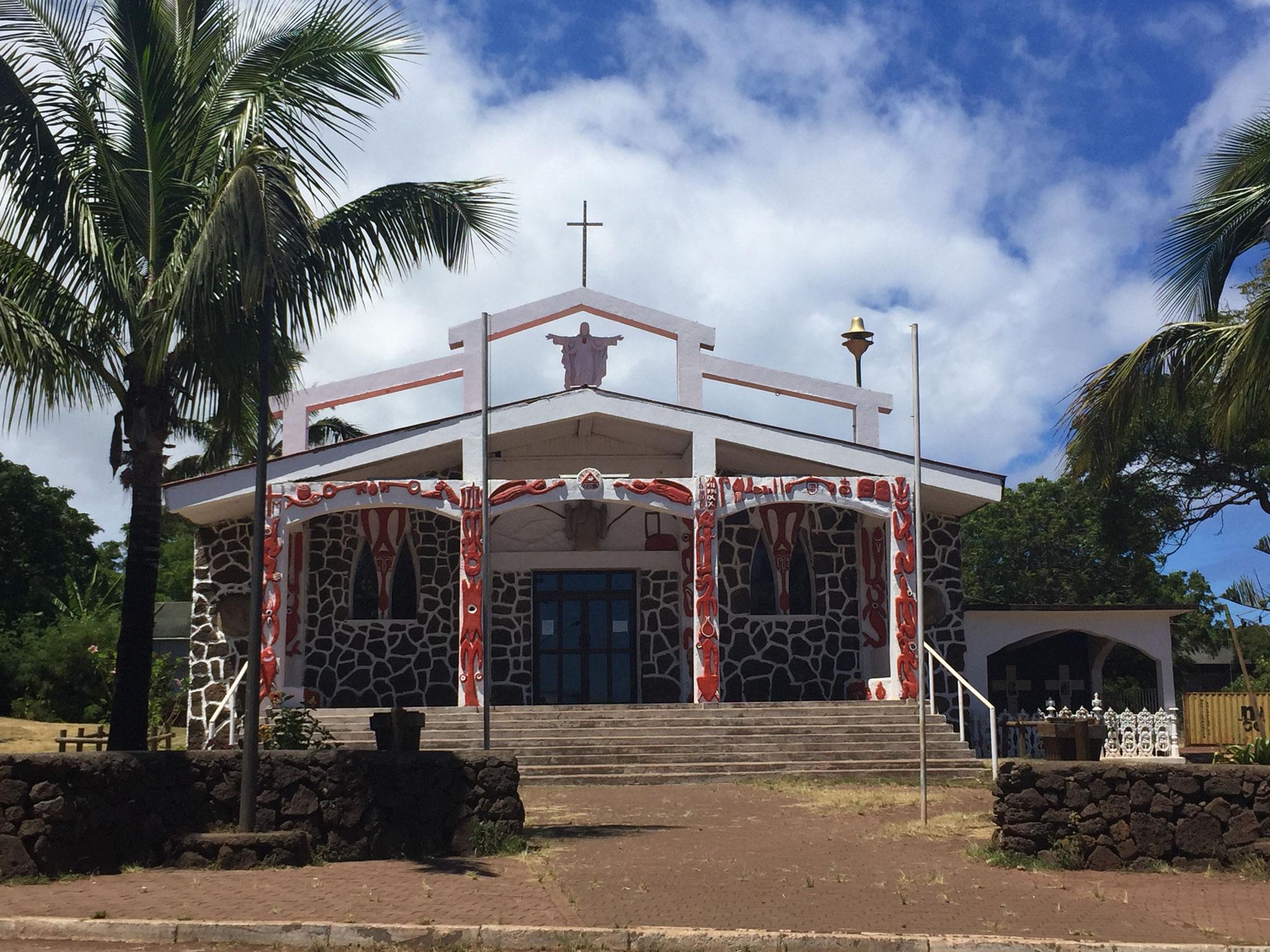 Kirche in Hanga Roa, der Hauptstatt