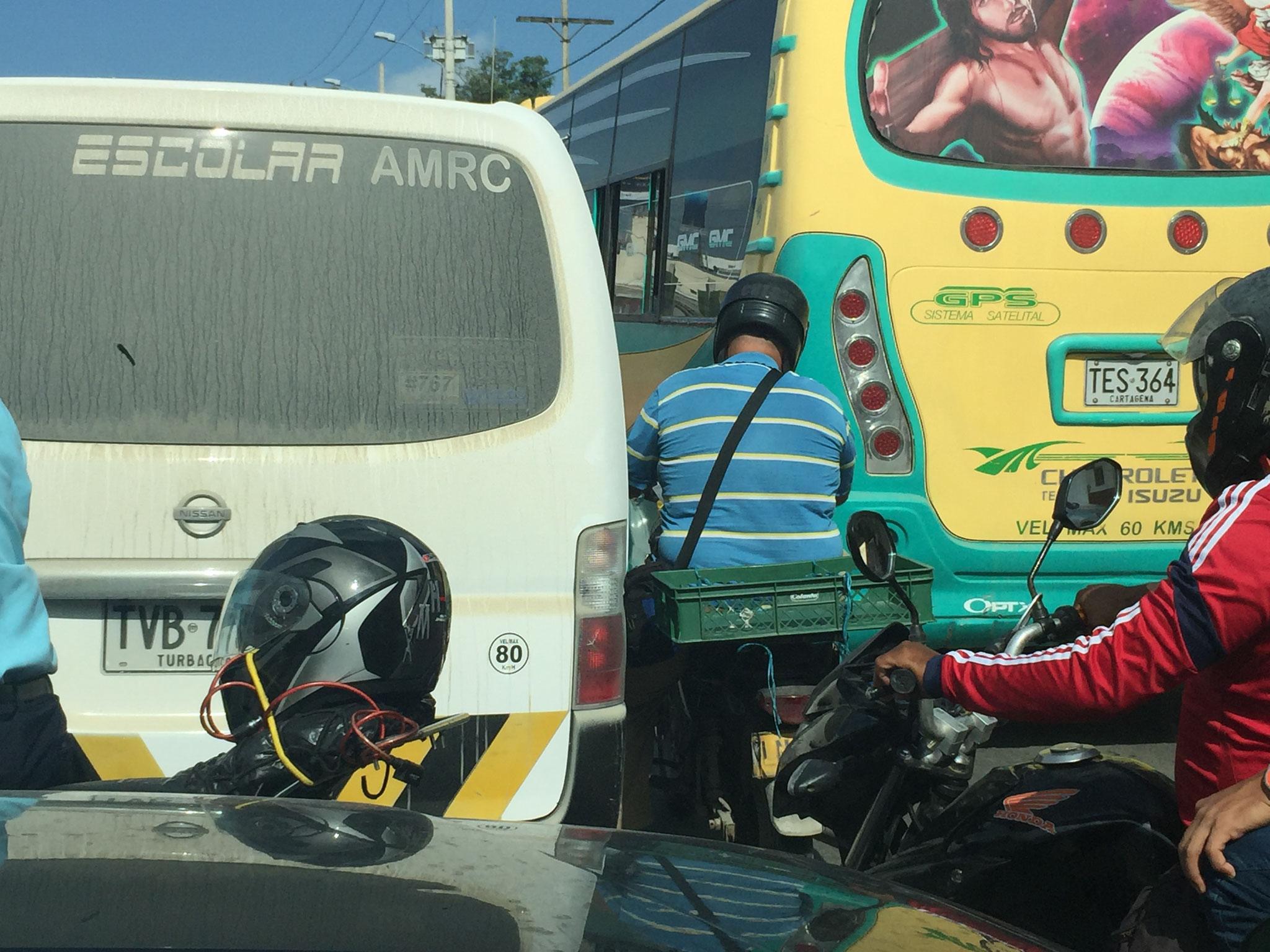 Verkehrschaos in Cartagena