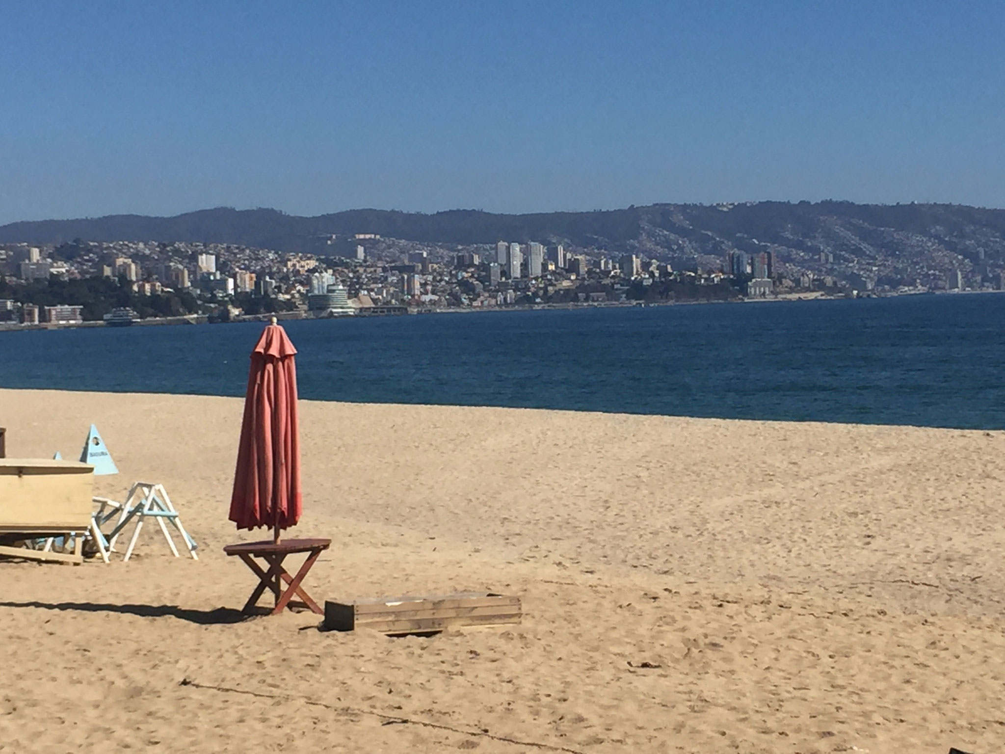Vina del Mar, Übernachtungsplatz am Strand