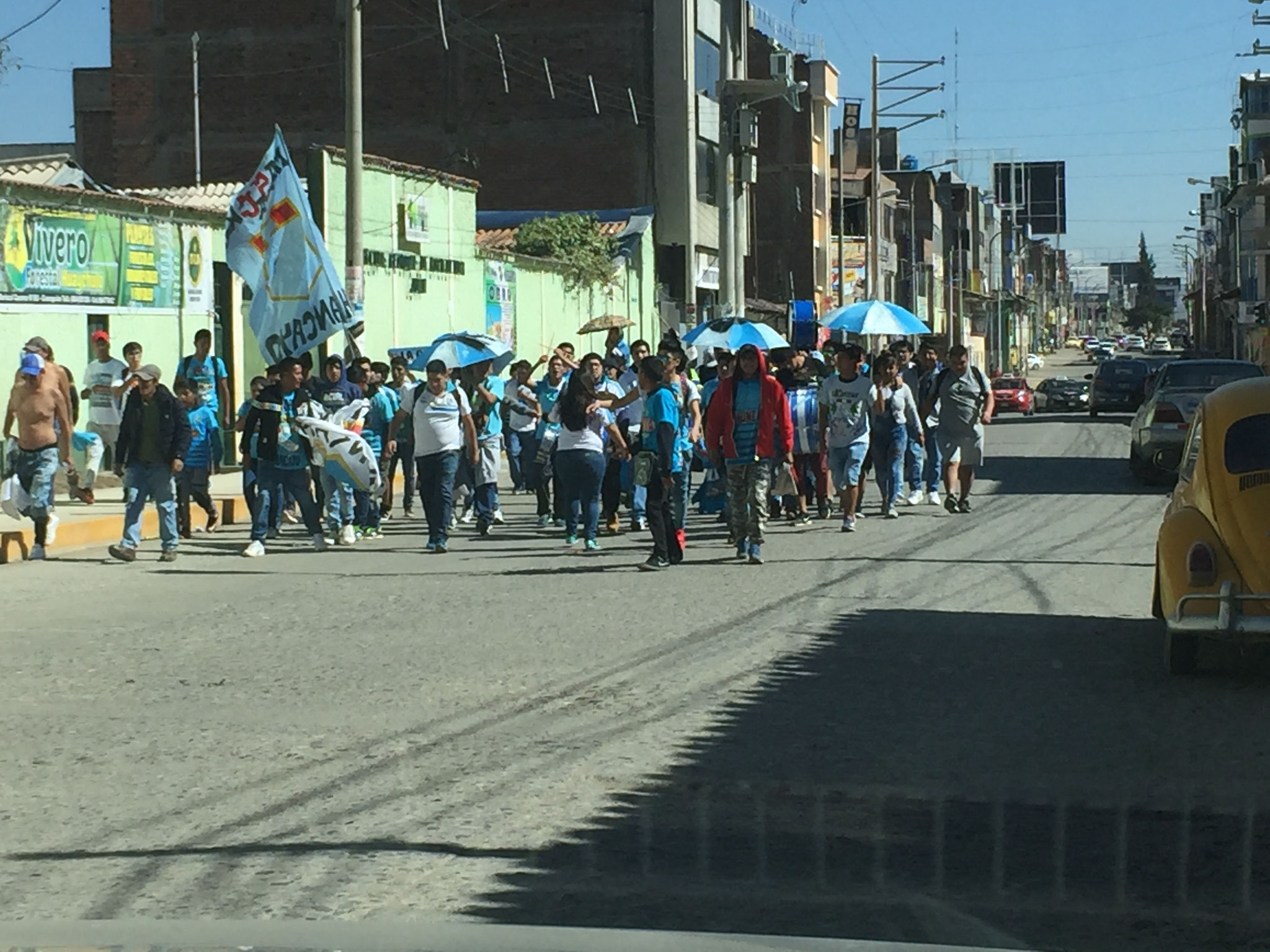 Demonstration in Huancayo