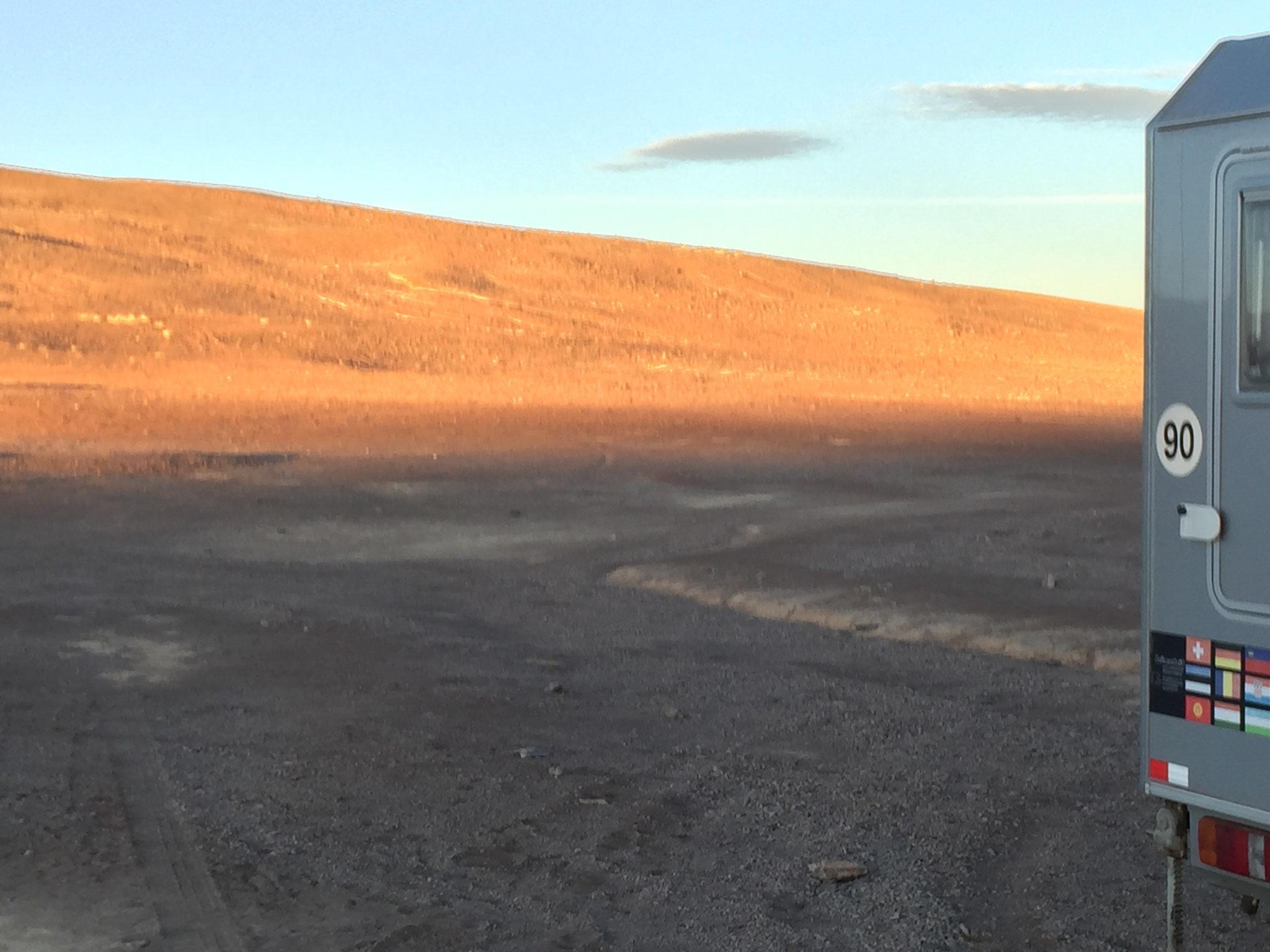 Übernachtungsplatz beim Observatorium Paranal