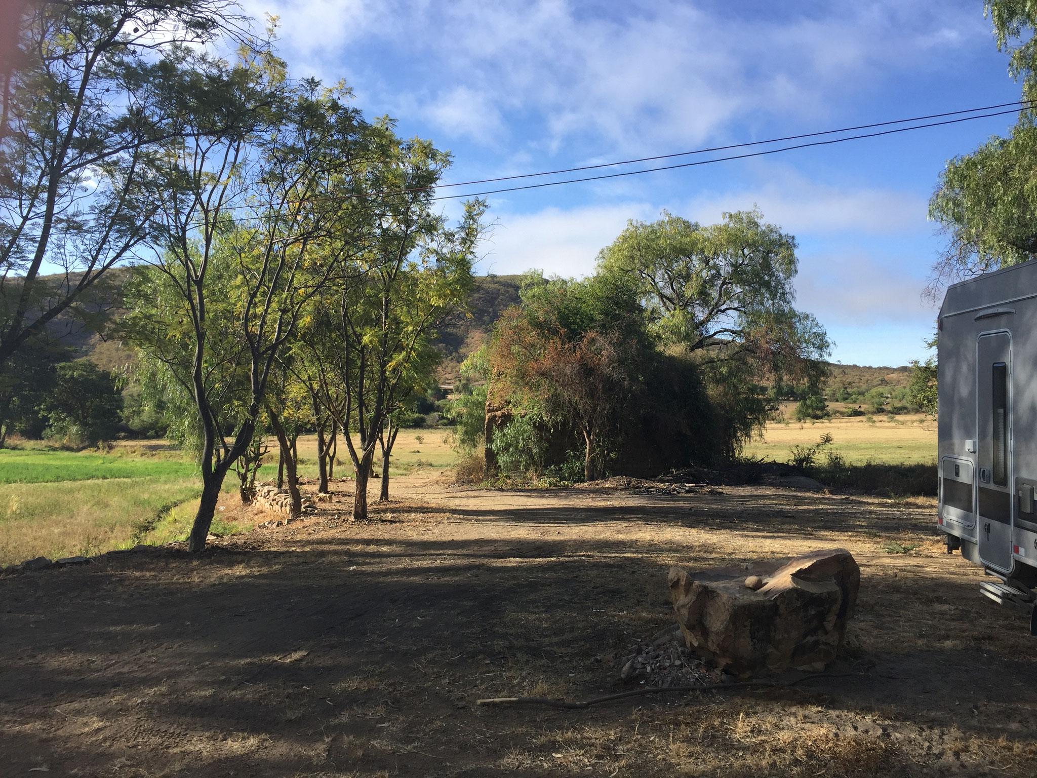 Übernachtungsplatz bei der Farm