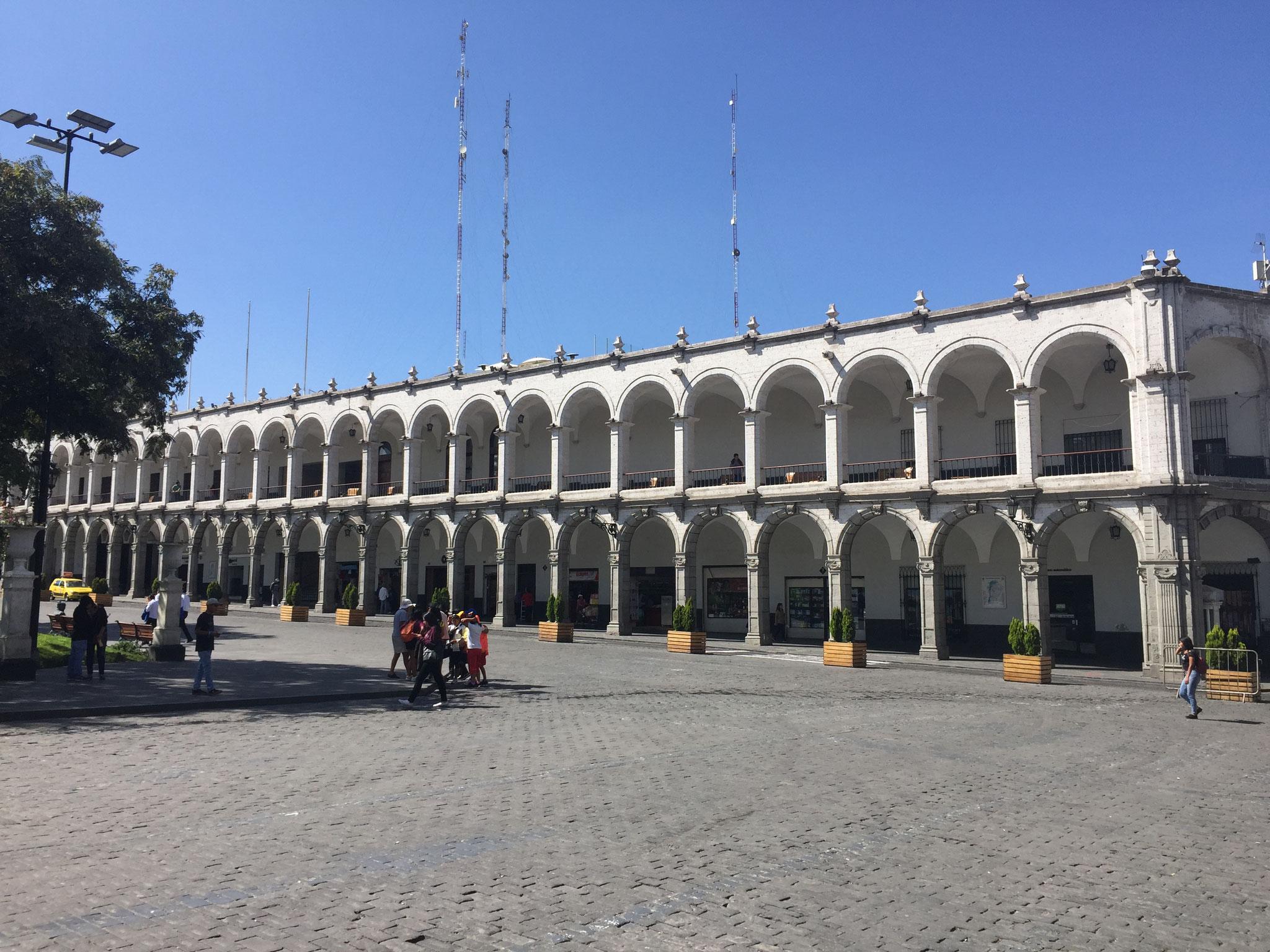 am Hauptplatz in Arequipa....
