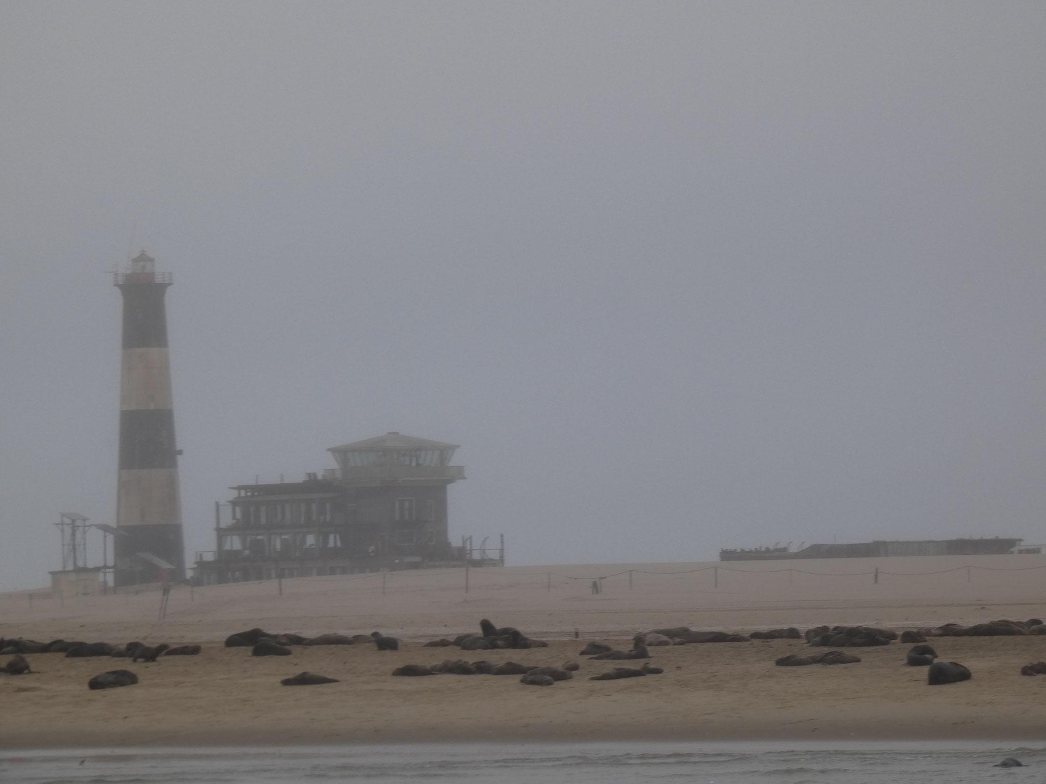 Leuchtturm auf der Halbinsel Walvis Bay