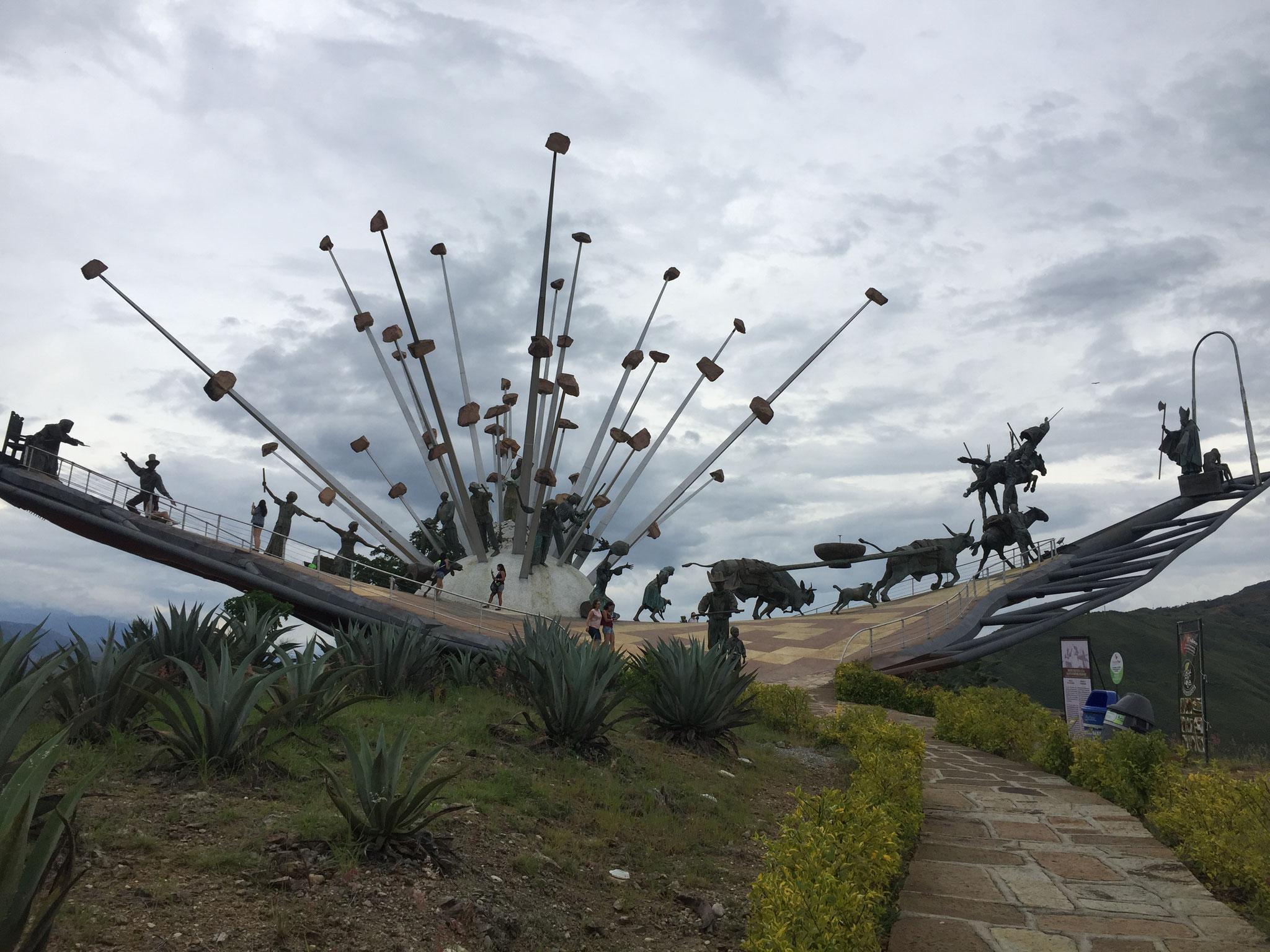 Geschichte Kolumbiens als Schiff dargestellt