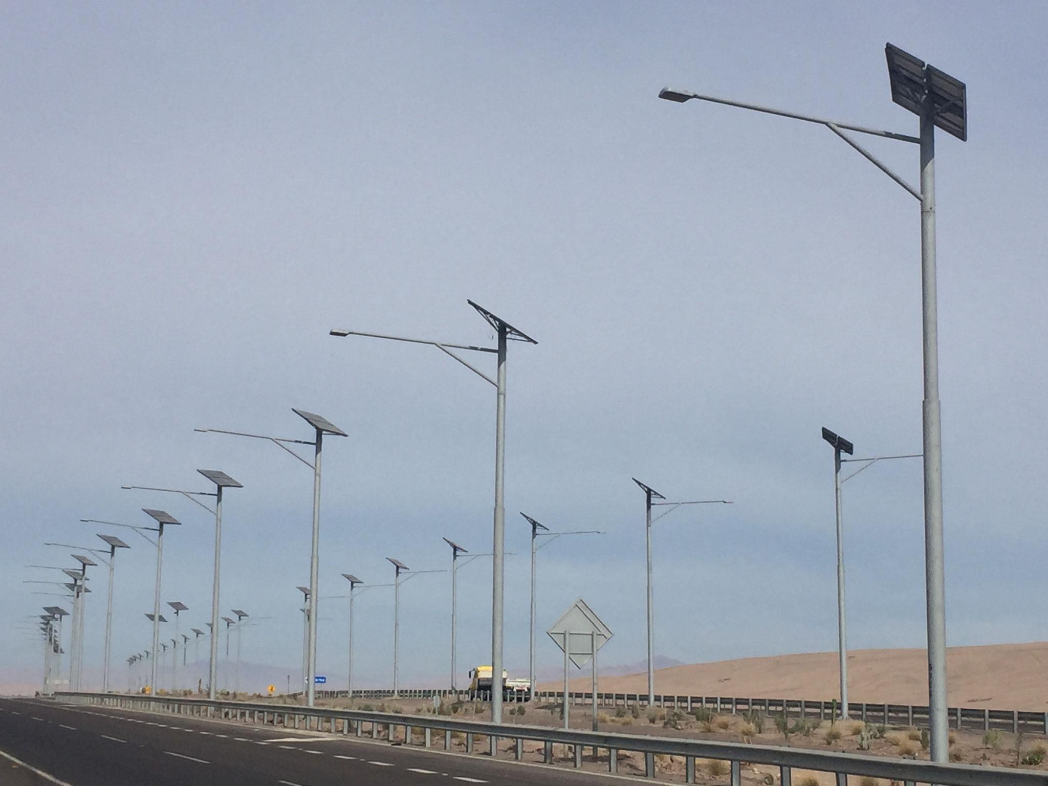 Strassenlampen mit Solarzellen