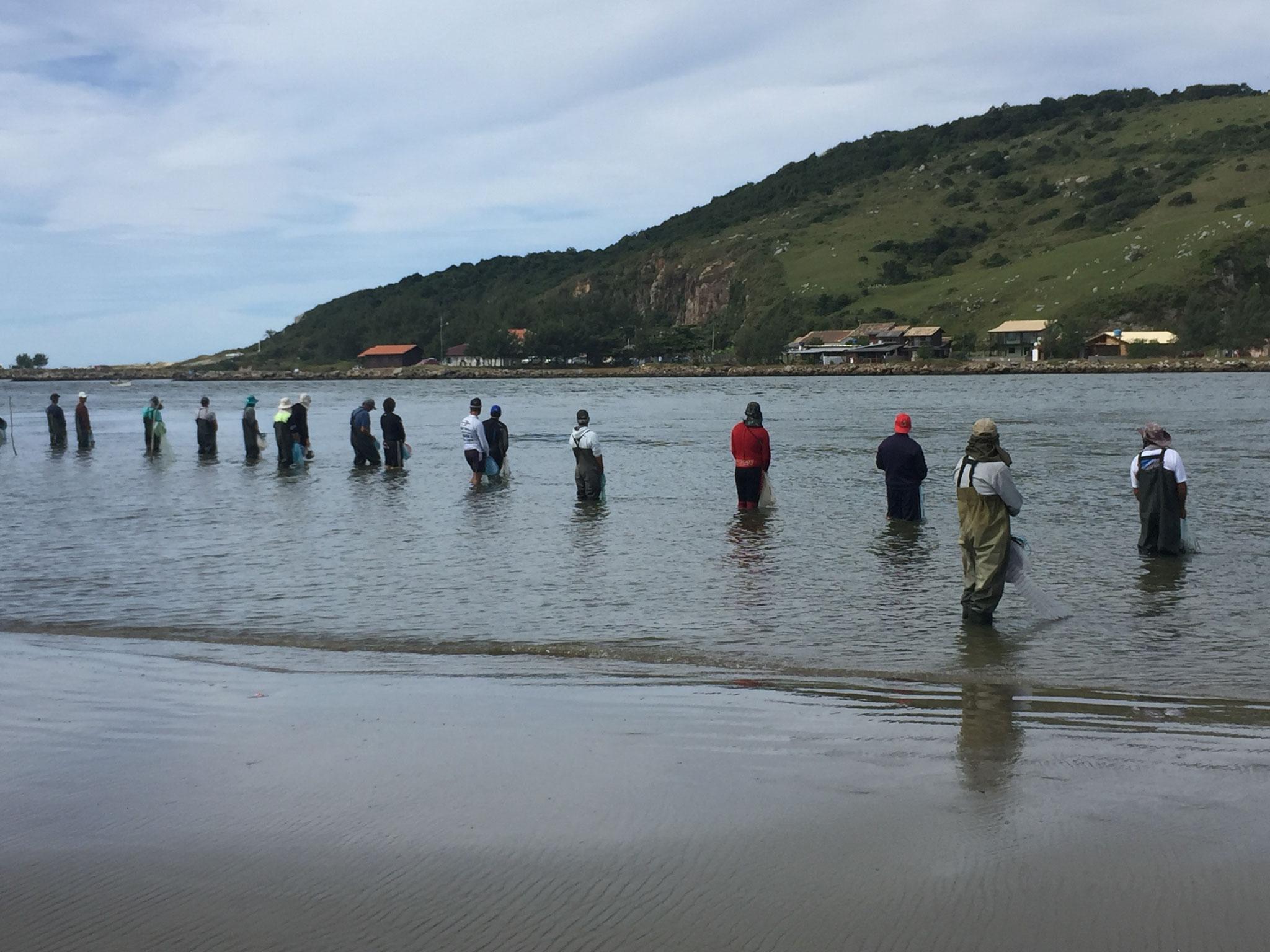 ..... mit den Fischern und .....