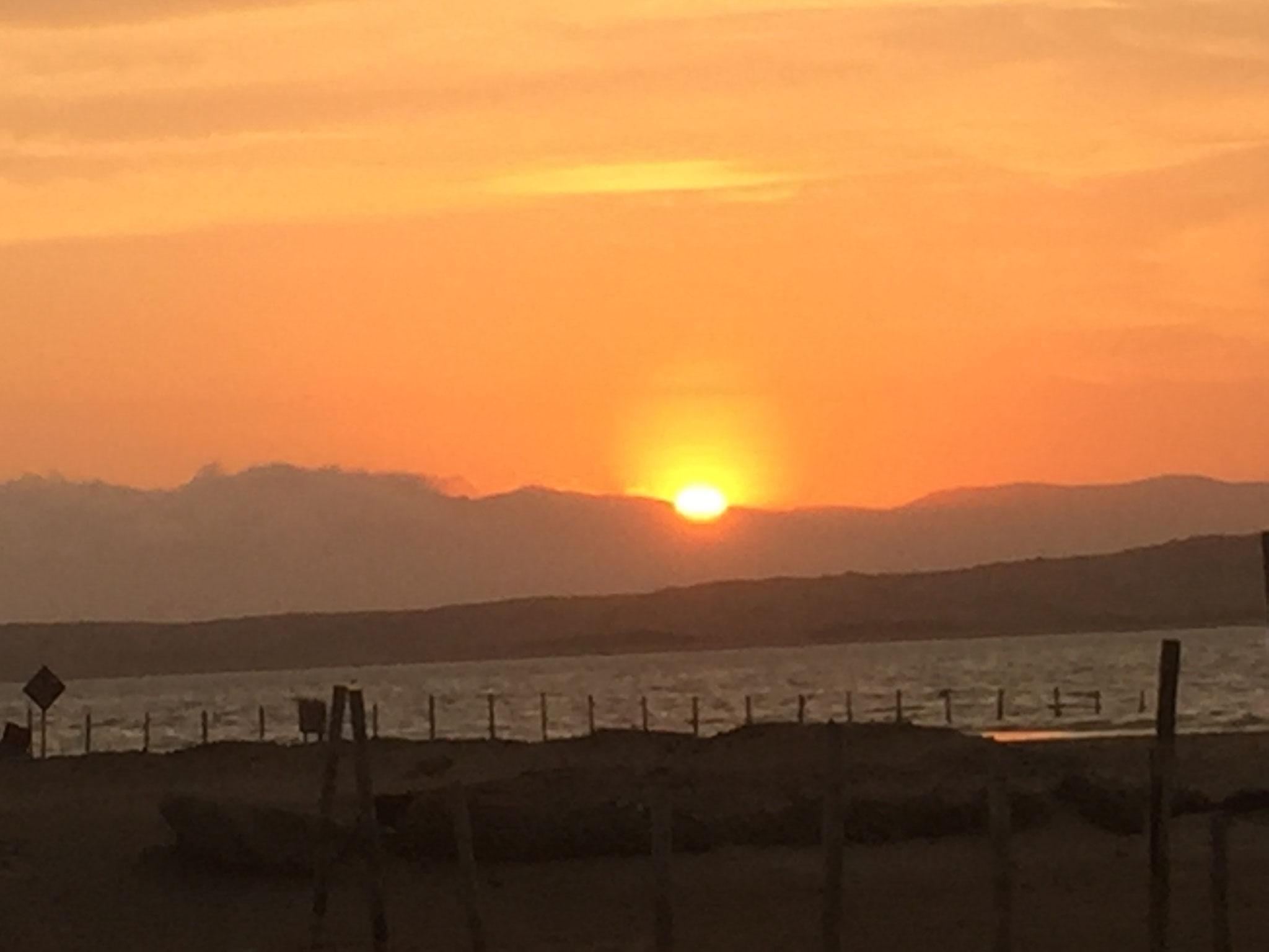 Sonneununtergang an der Bucht.....