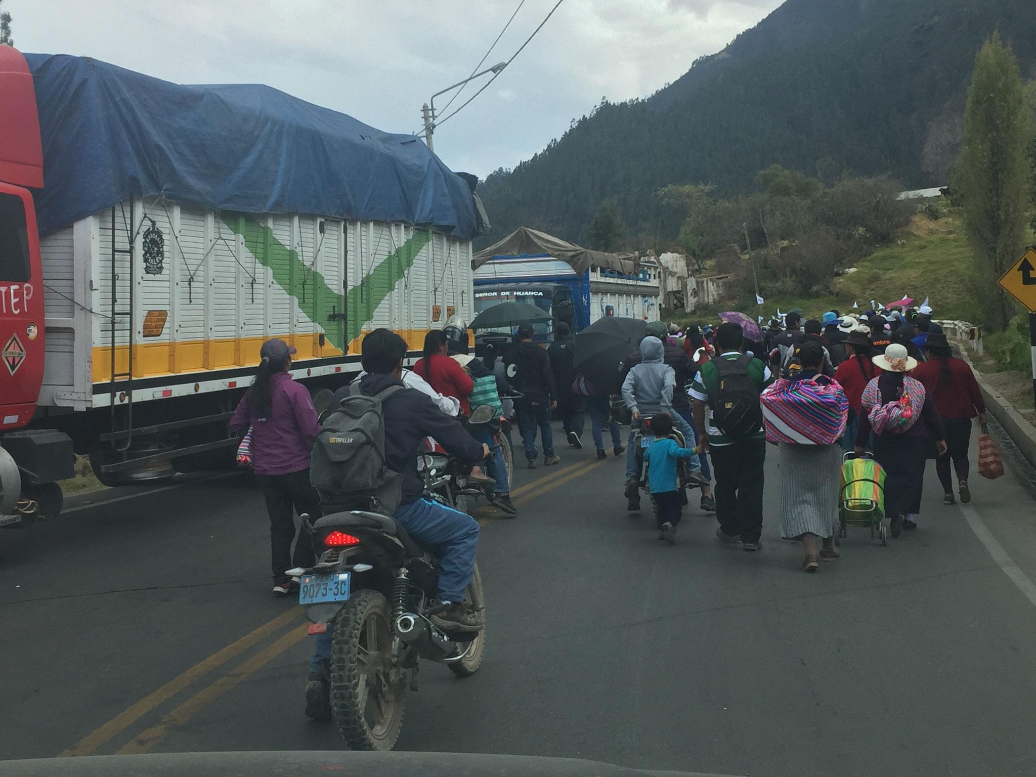 Strassenblockade