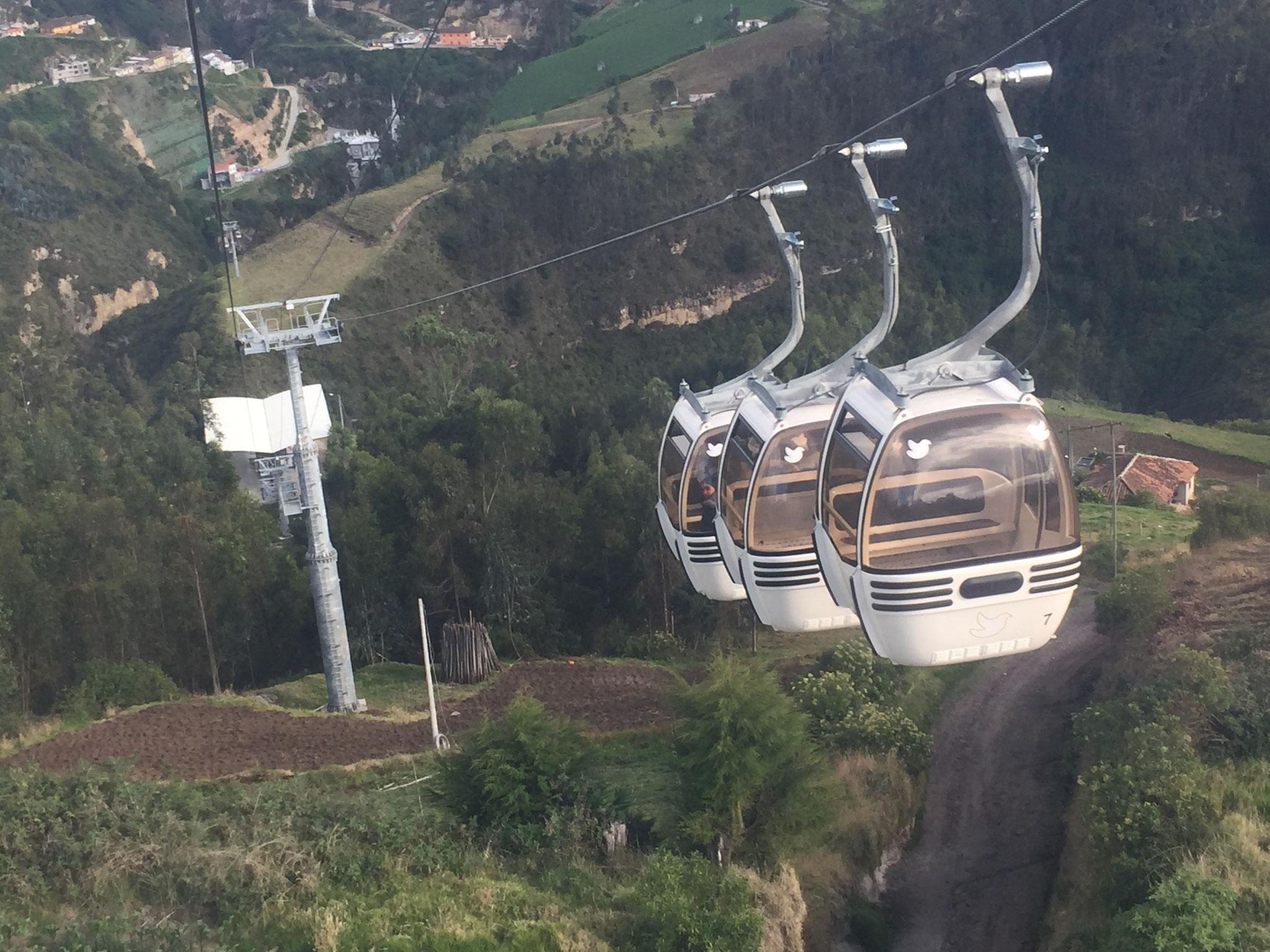 Die Seilbahn in Las Lajas