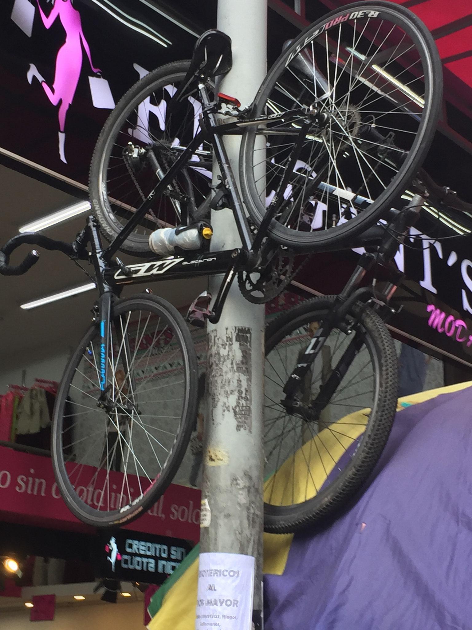 sicherer Parkplatz für Fahrrad