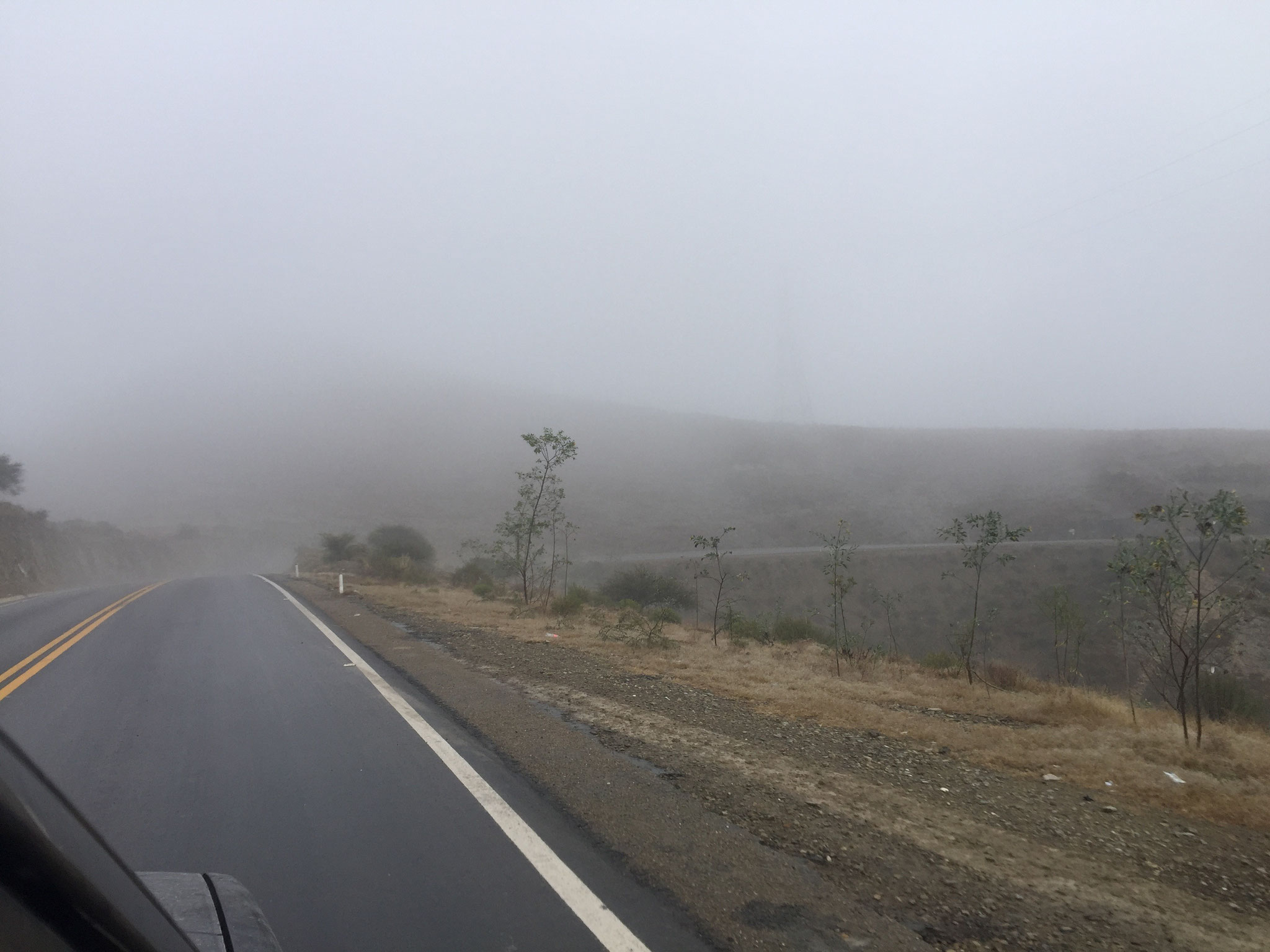 Nebel in Tarija....