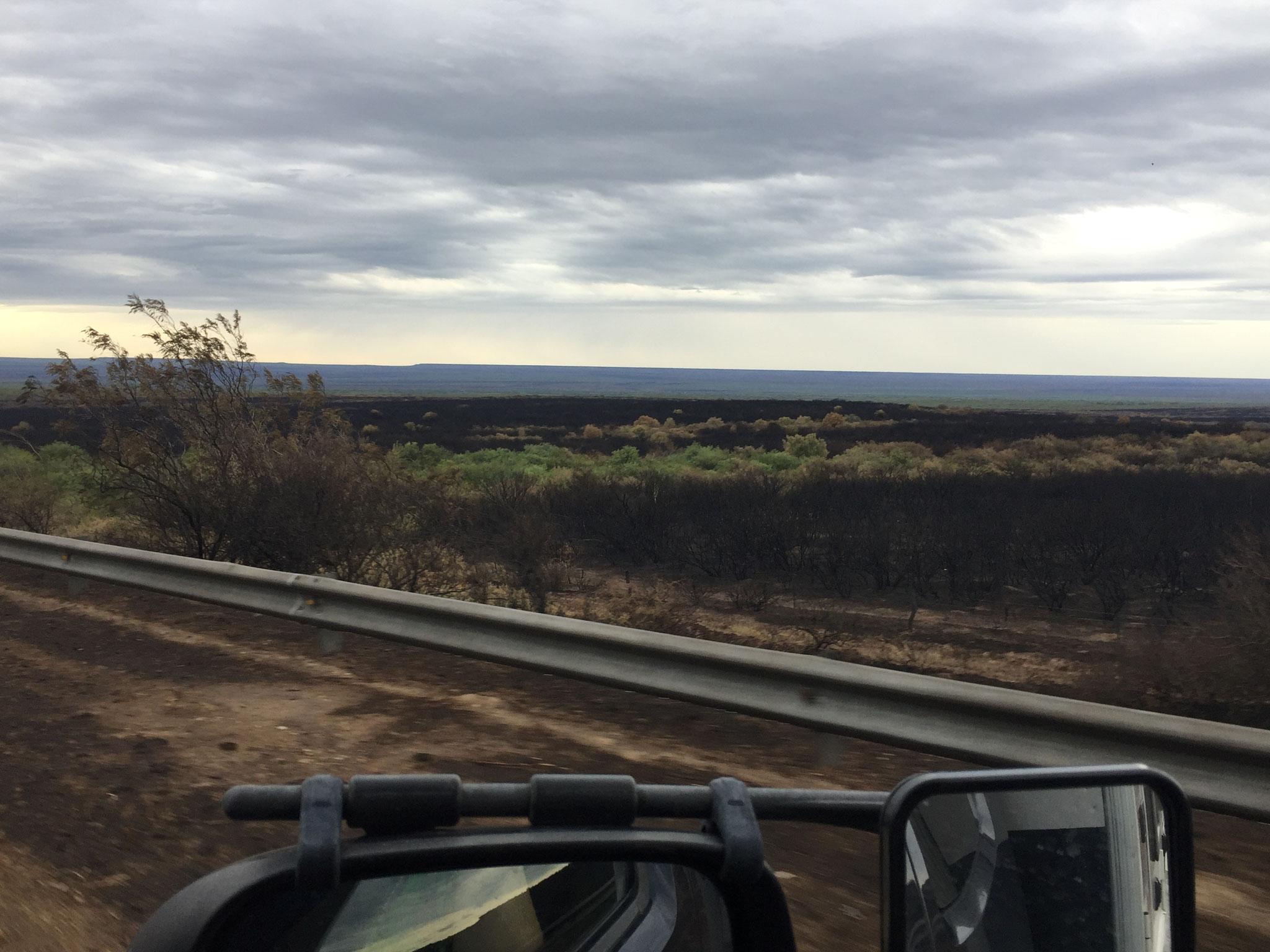 Richtung Valdes, Steppenbrände