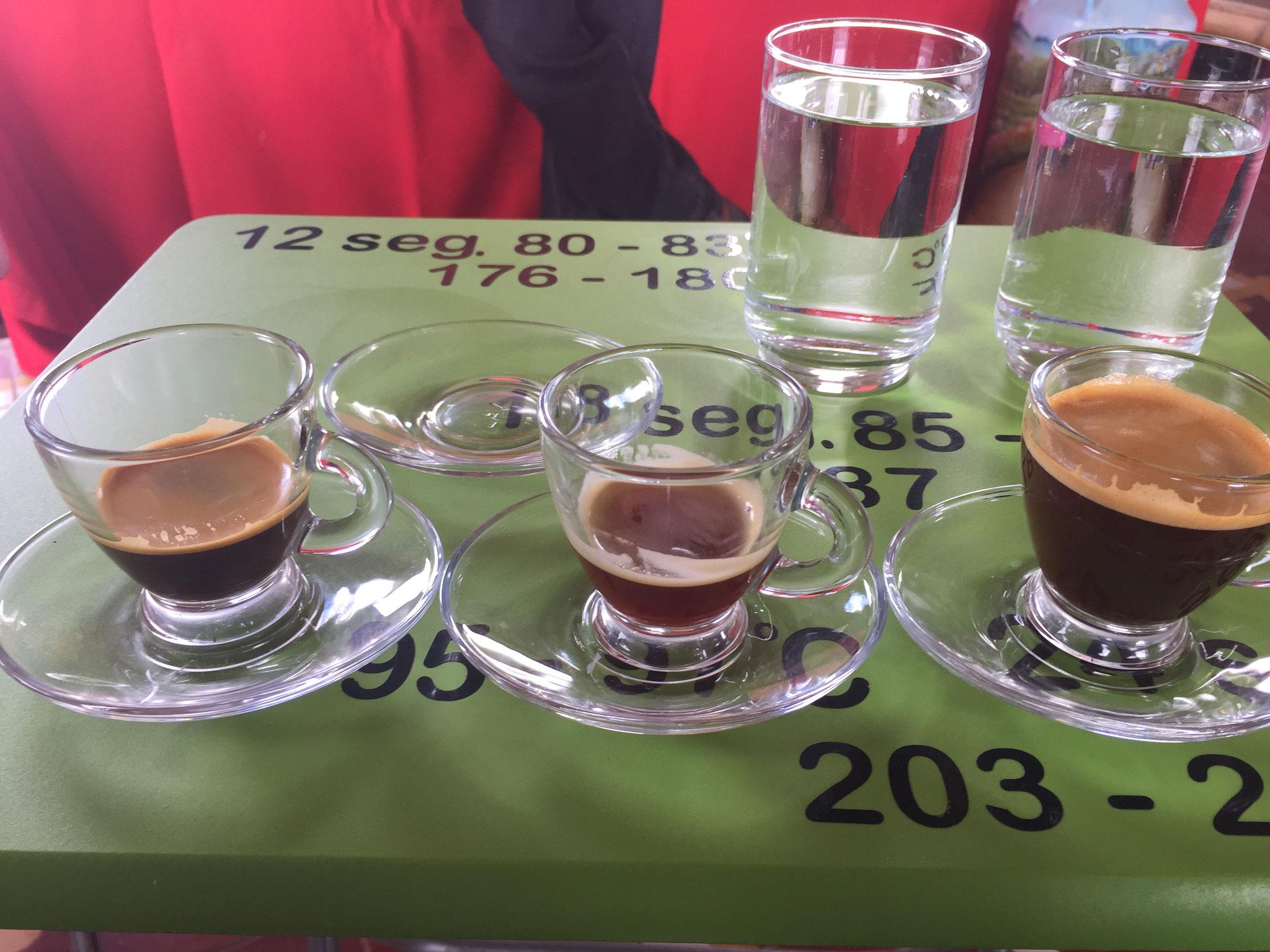 Kaffe verschieden heiss zubereitet