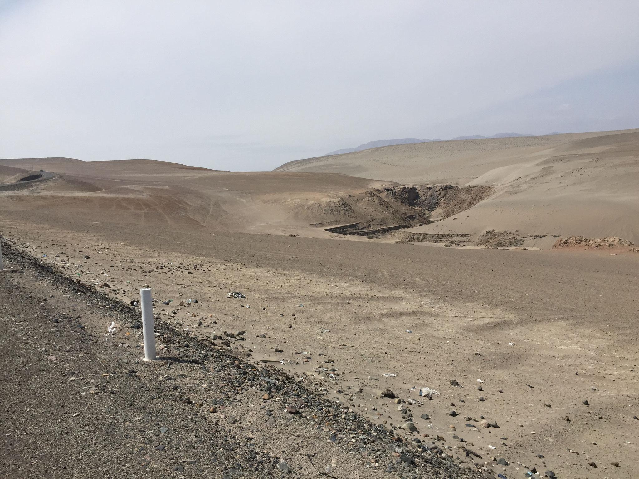 Weiterfahrt durch Wüstenlandschaft
