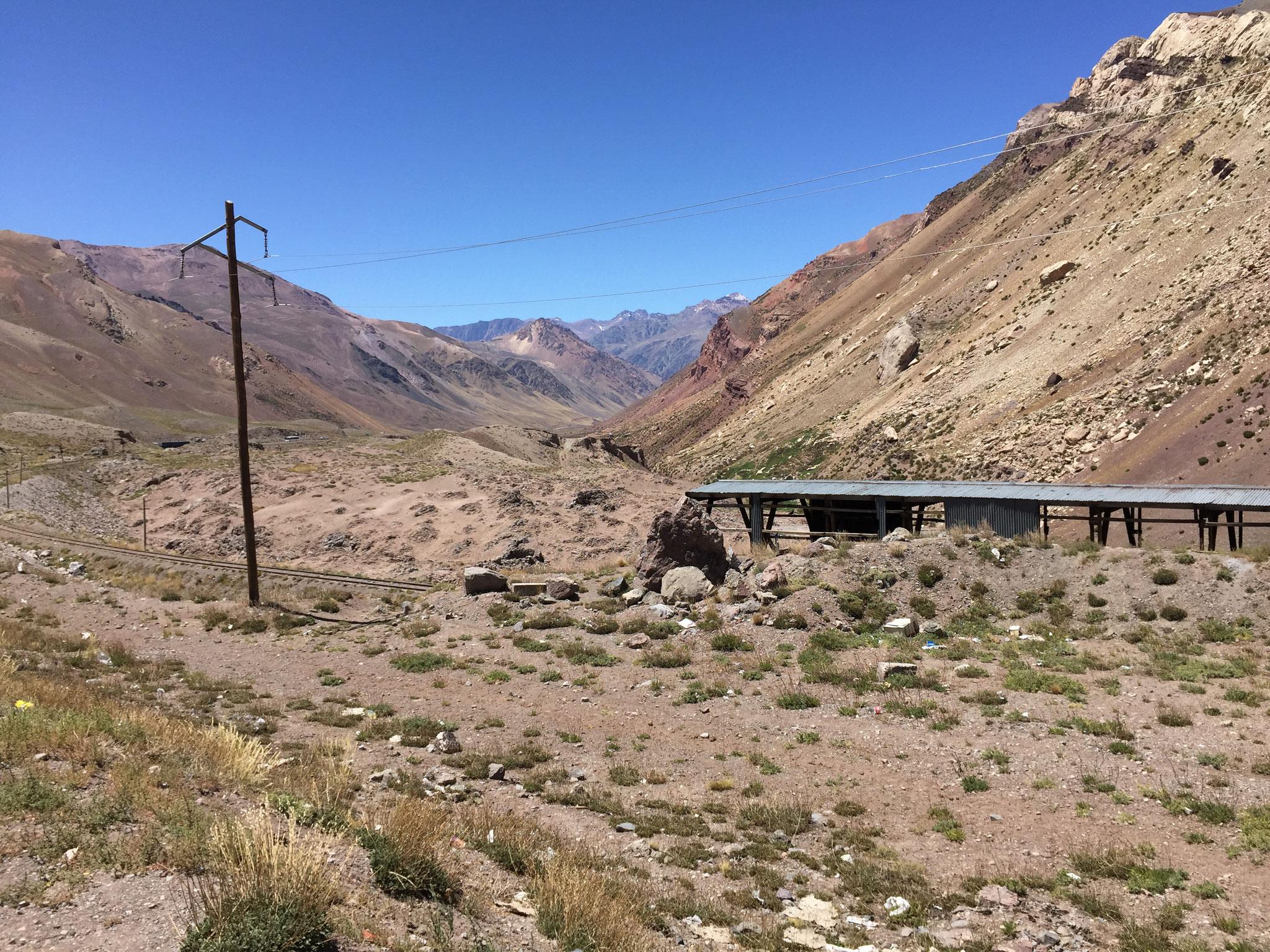 Eisenbahn über den Berg, leider nicht mehr in Betrieb