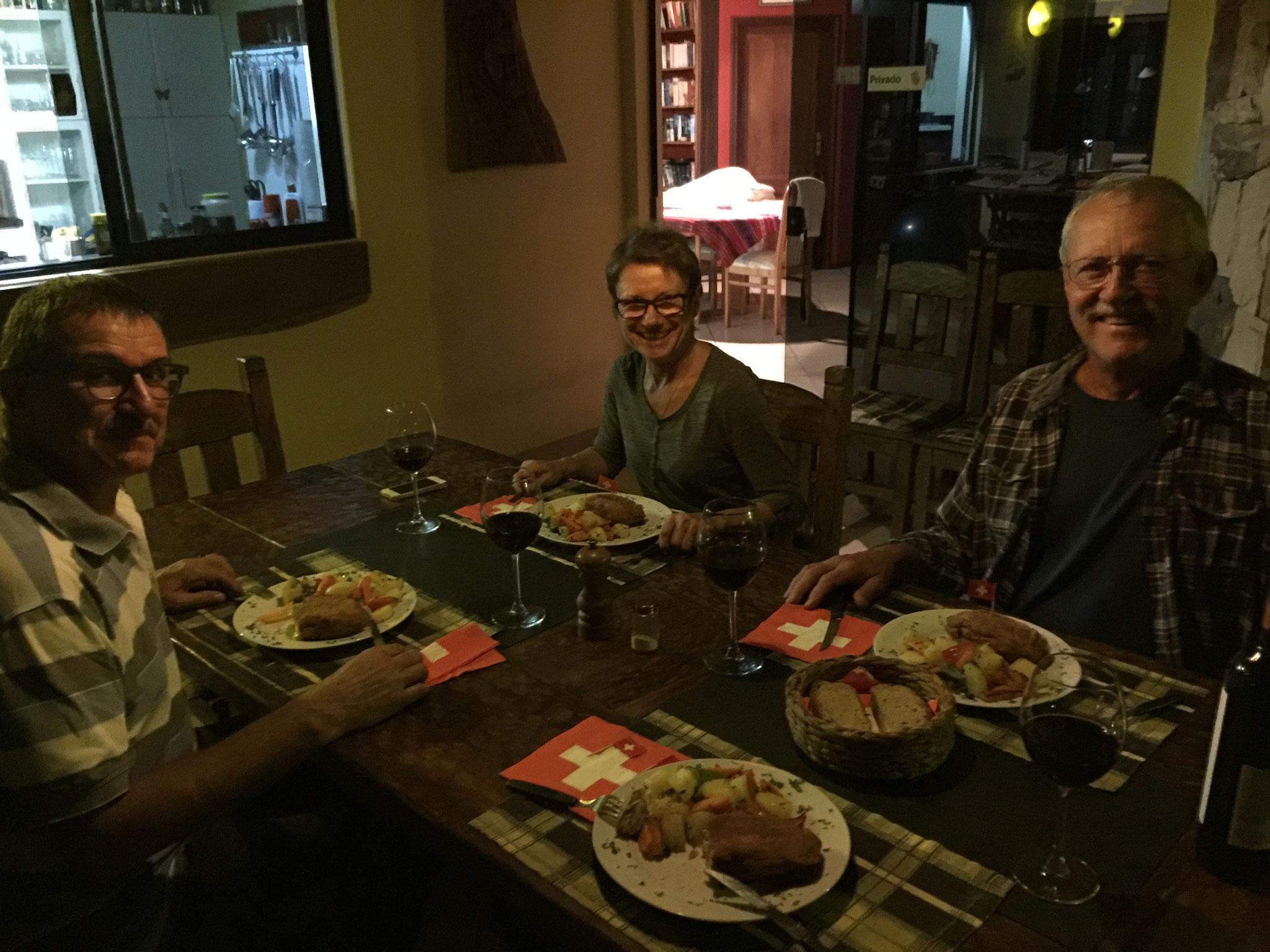 Gemütliches Essen bei René und Marion....