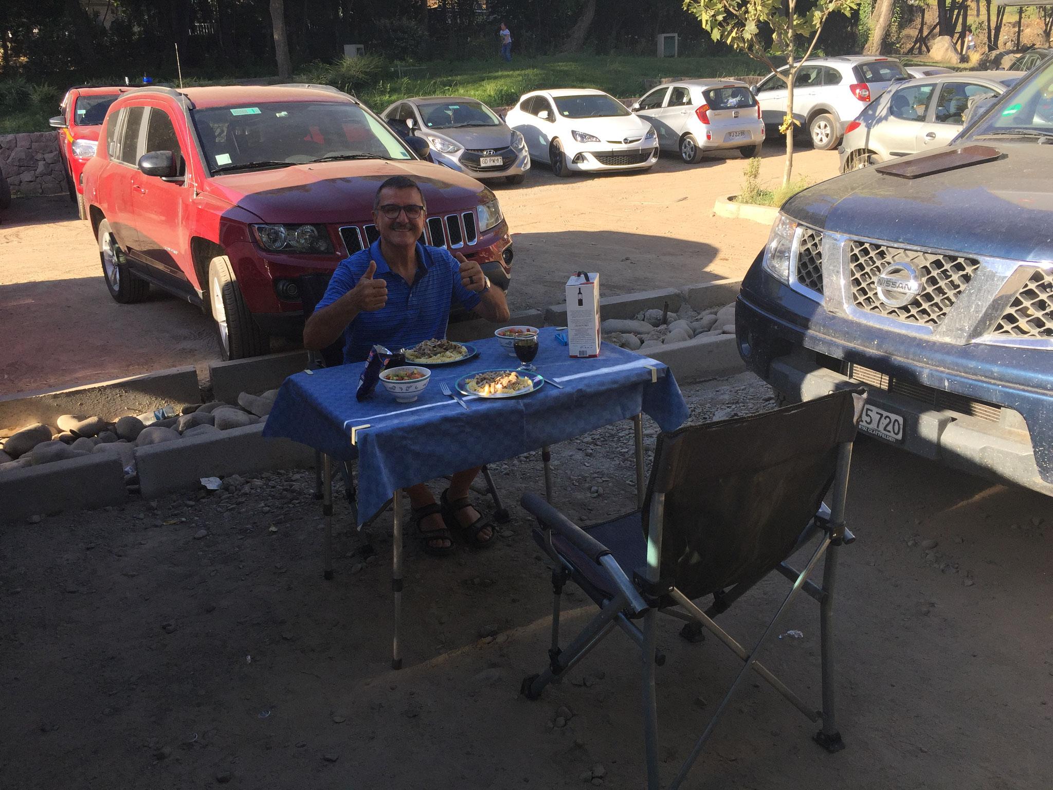 Camping auf Parkplatz...