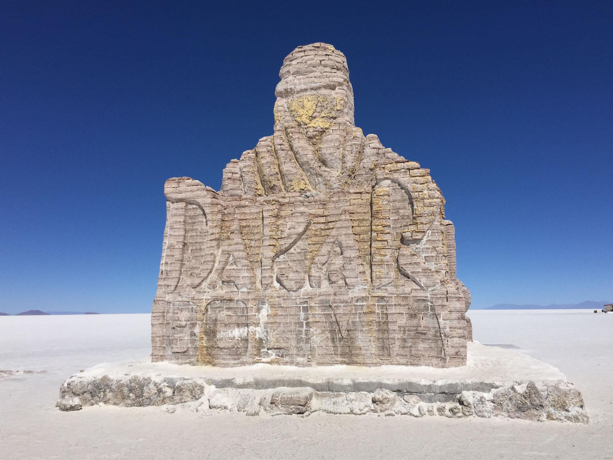 Dakarmonument aus Salz