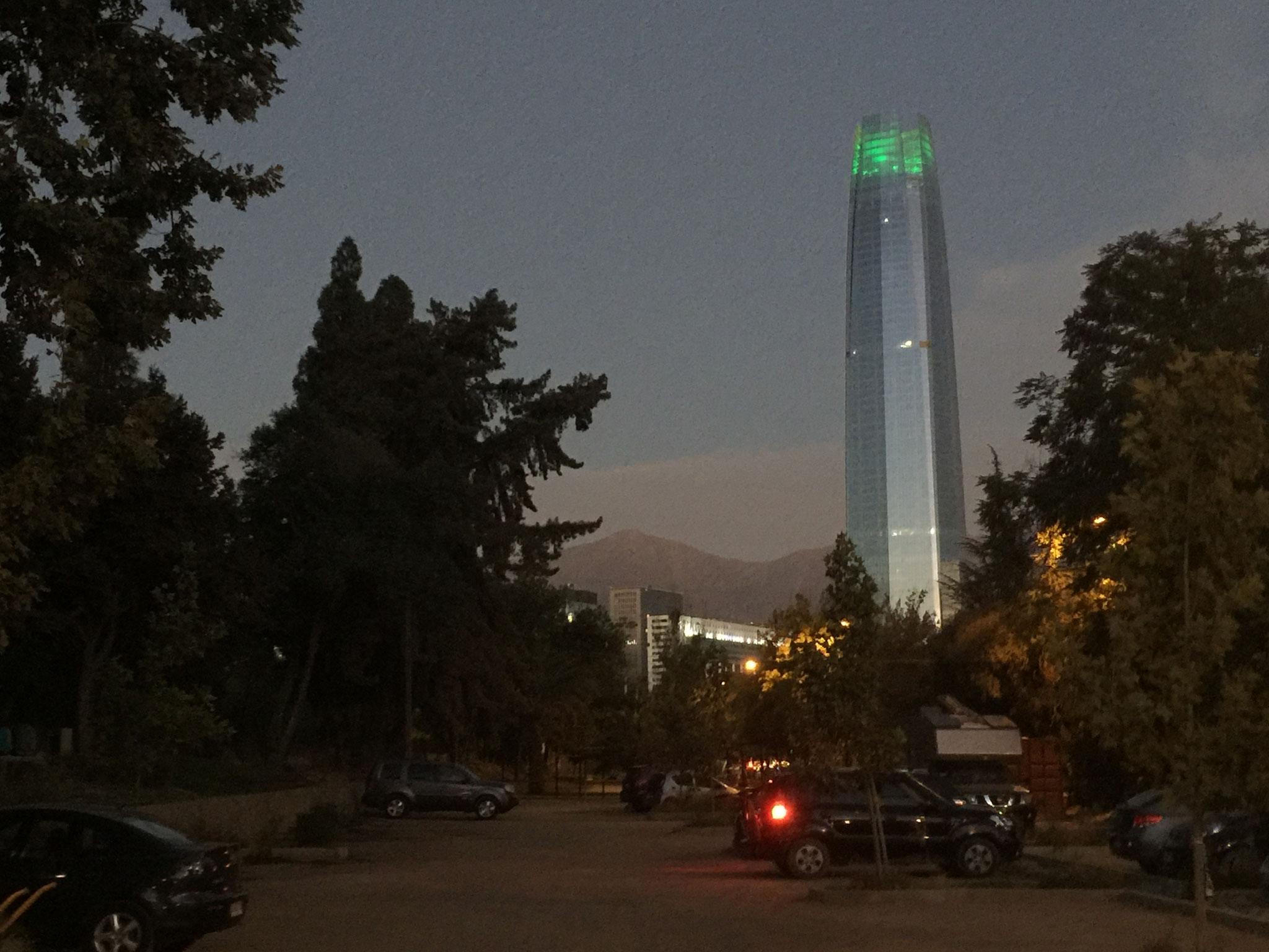 zurück in Santiago, höchstes Haus